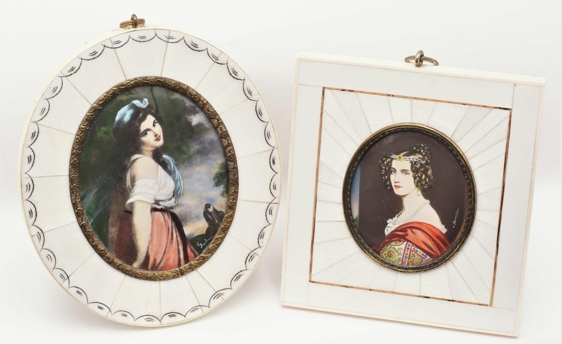 Zwei Miniatur-Portraits