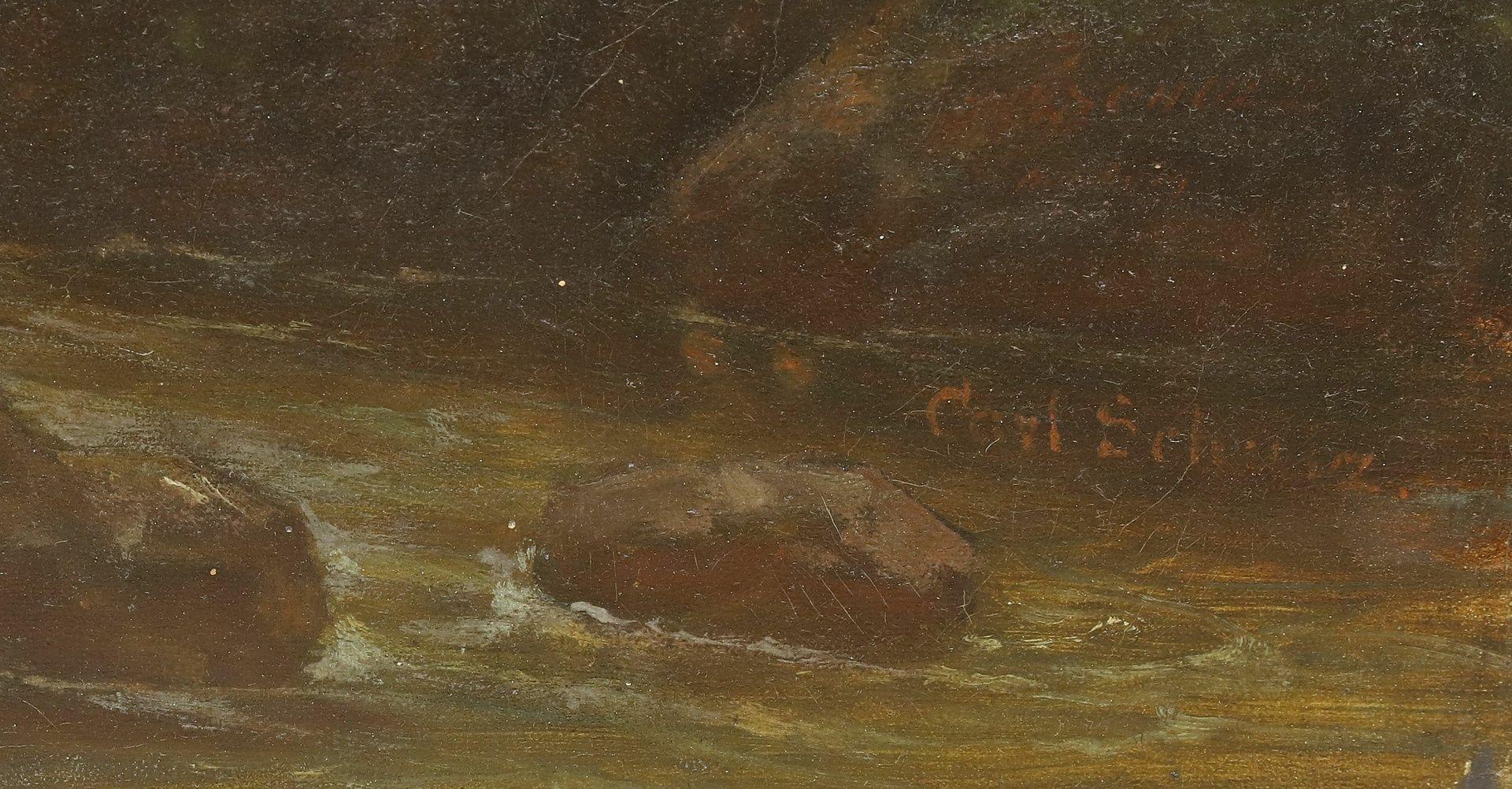 Carl Schulz, Wassermühle im Gebirgstal - Bild 6 aus 6