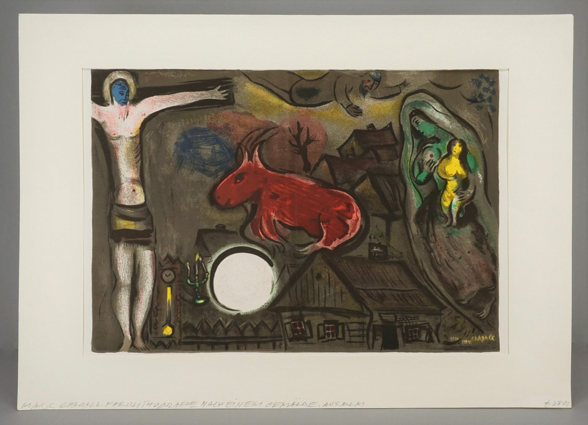 Marc Chagall, Vision mit roter Kuh - Bild 2 aus 5