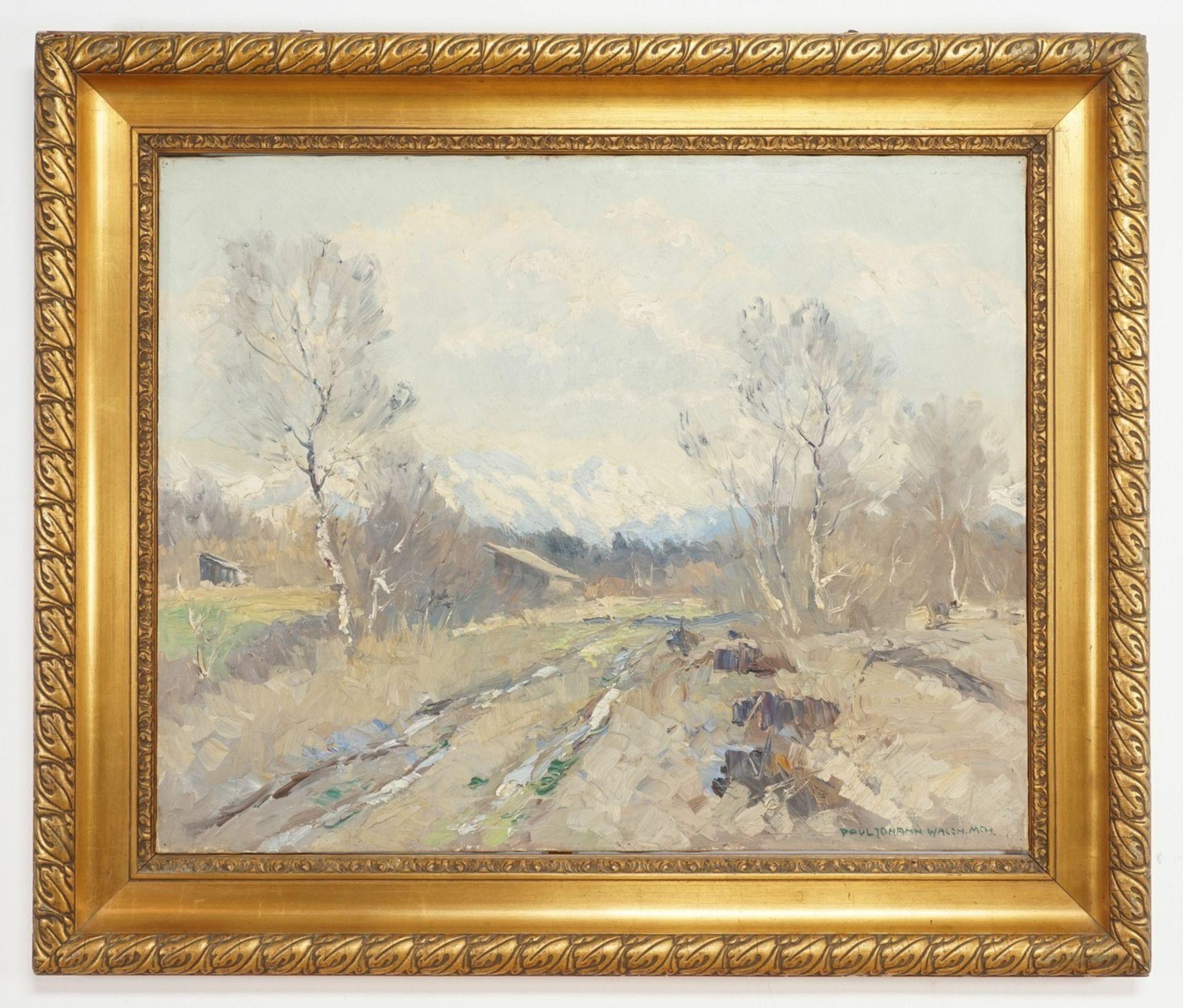 """Paul Johann Walch, """"Birken in Voralpenlandschaft"""" - Bild 2 aus 4"""