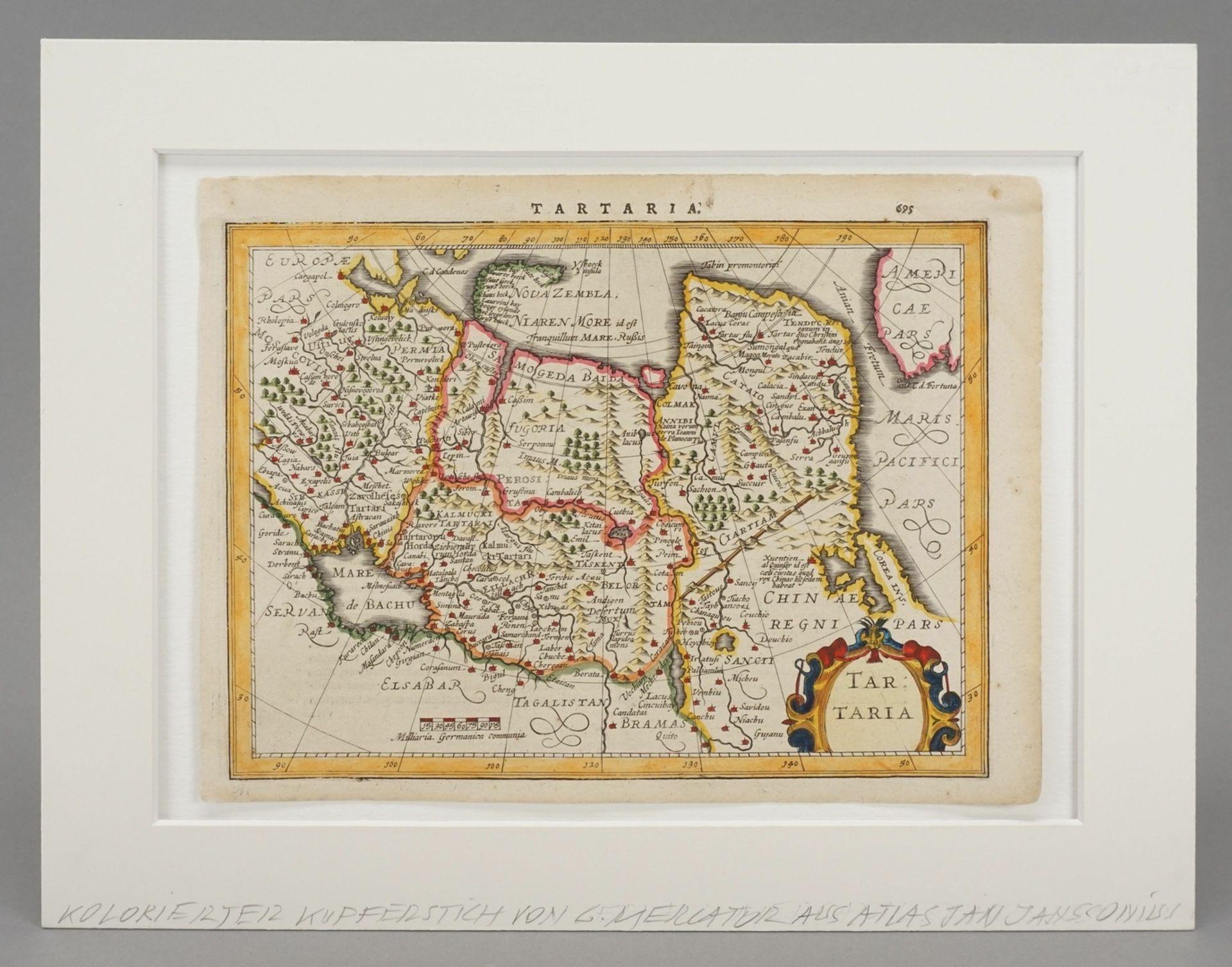 "Gerhard Mercator, ""Tartaria"" (Landkarte Nordost-Asien) - Bild 2 aus 4"