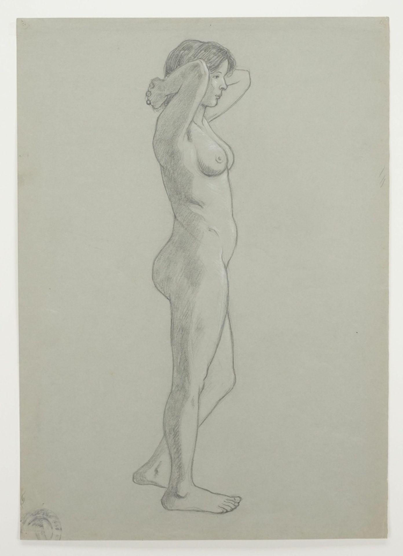 Unbekannter akademischer Künstler, Zwei weibliche Akt-Darstellungen - Bild 3 aus 3