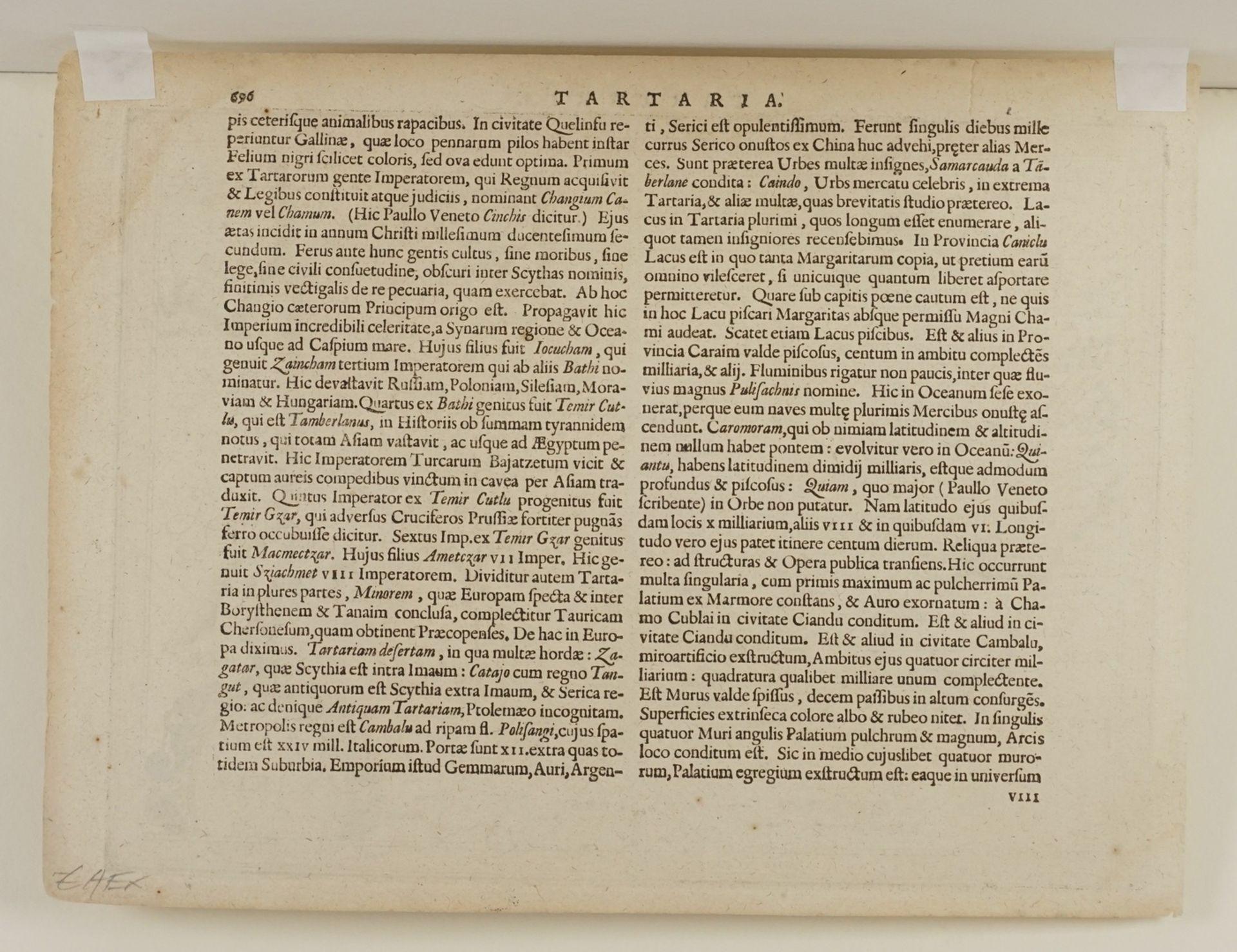 "Gerhard Mercator, ""Tartaria"" (Landkarte Nordost-Asien) - Bild 4 aus 4"