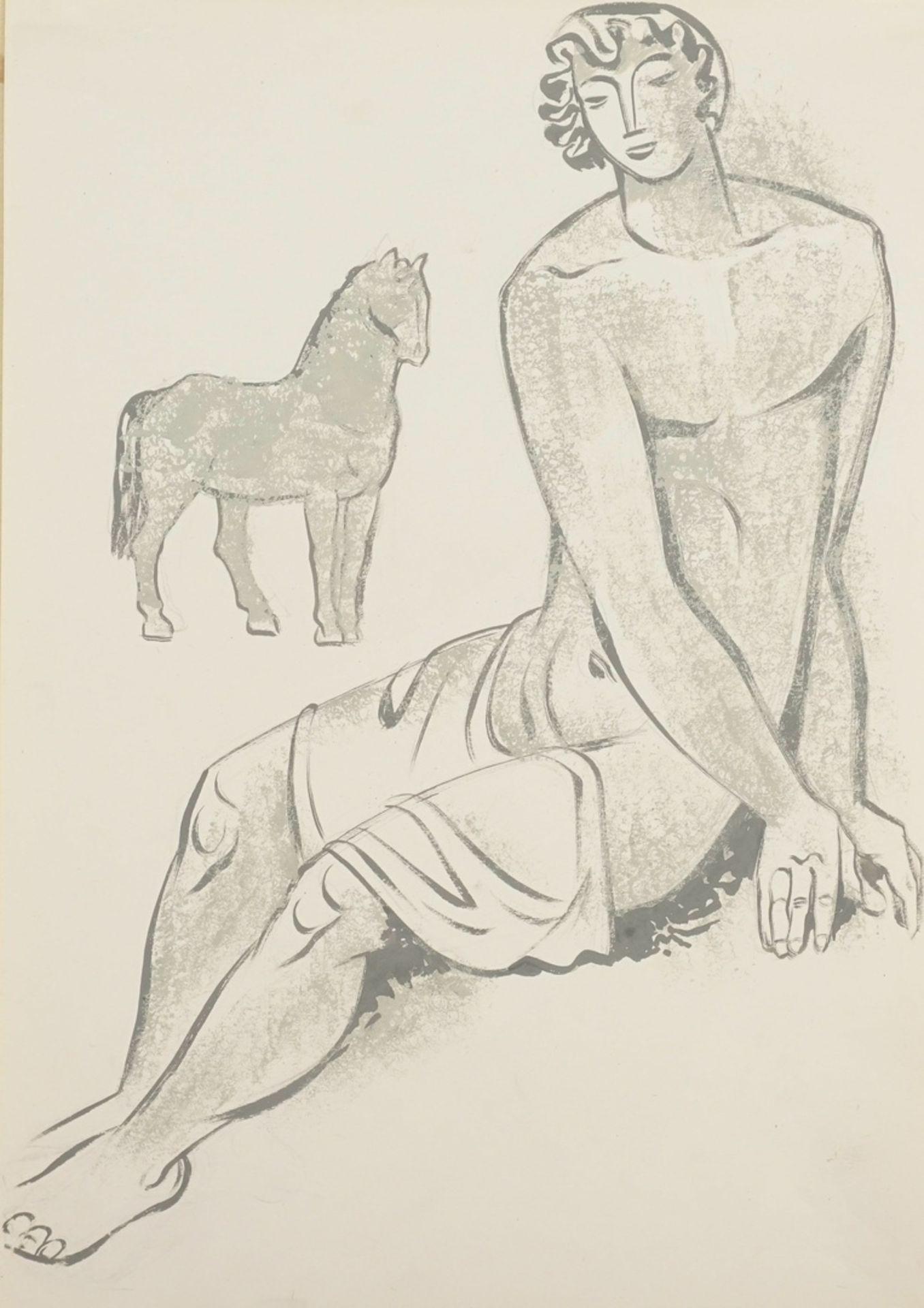 "Richard Schwarzkopf, ""Jüngling mit Pferd"""
