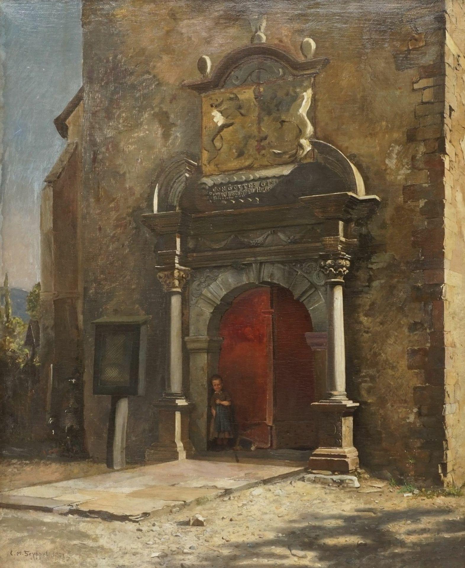 "Carl Maria Seyppel, ""Am Kirchenportal"""
