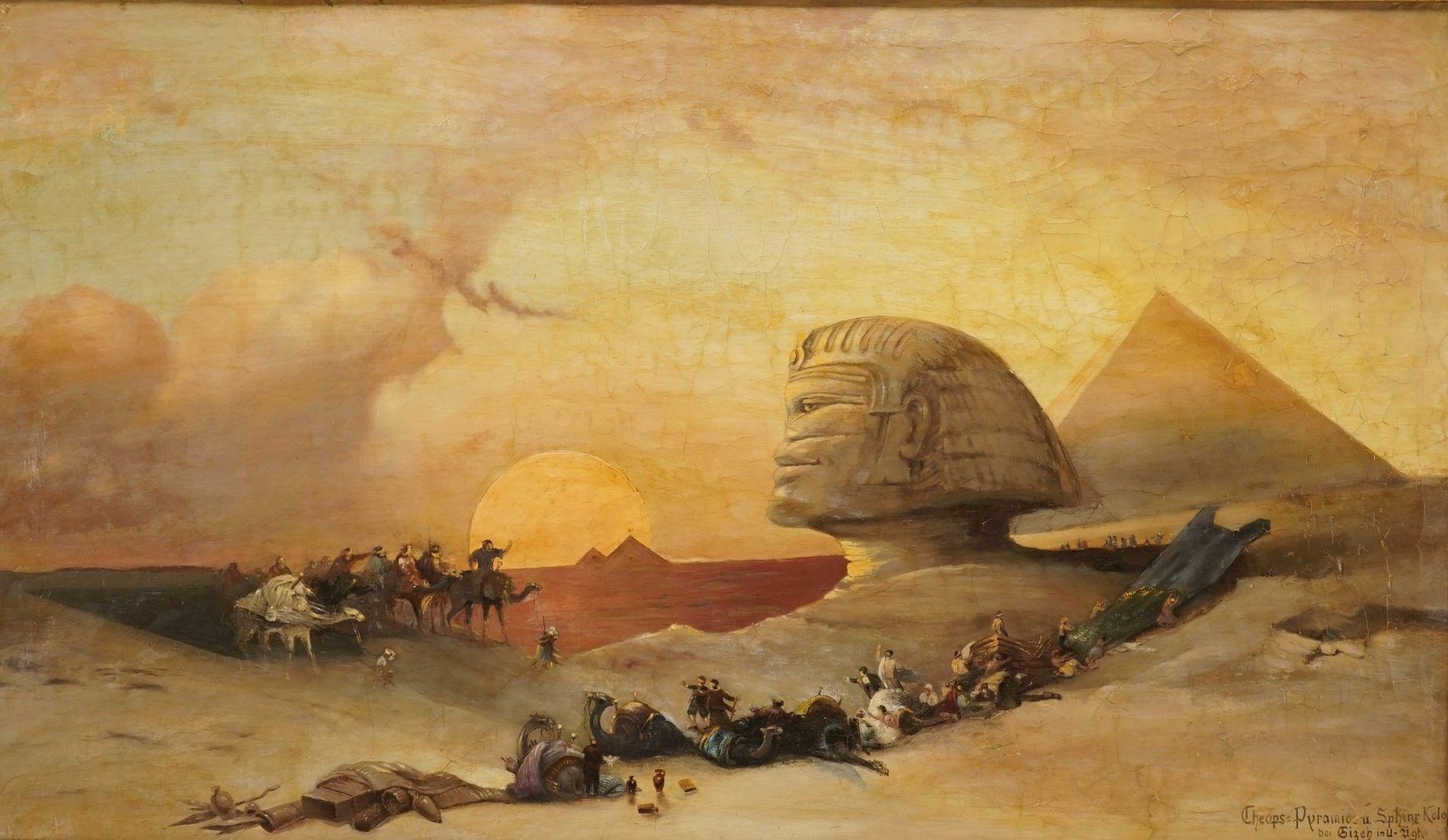 """David Roberts, """"Cheops-Pyramide und Sphinx-Koloss bei Gizeh in U.-Äg[yp]t[en]"""" - Bild 2 aus 4"""
