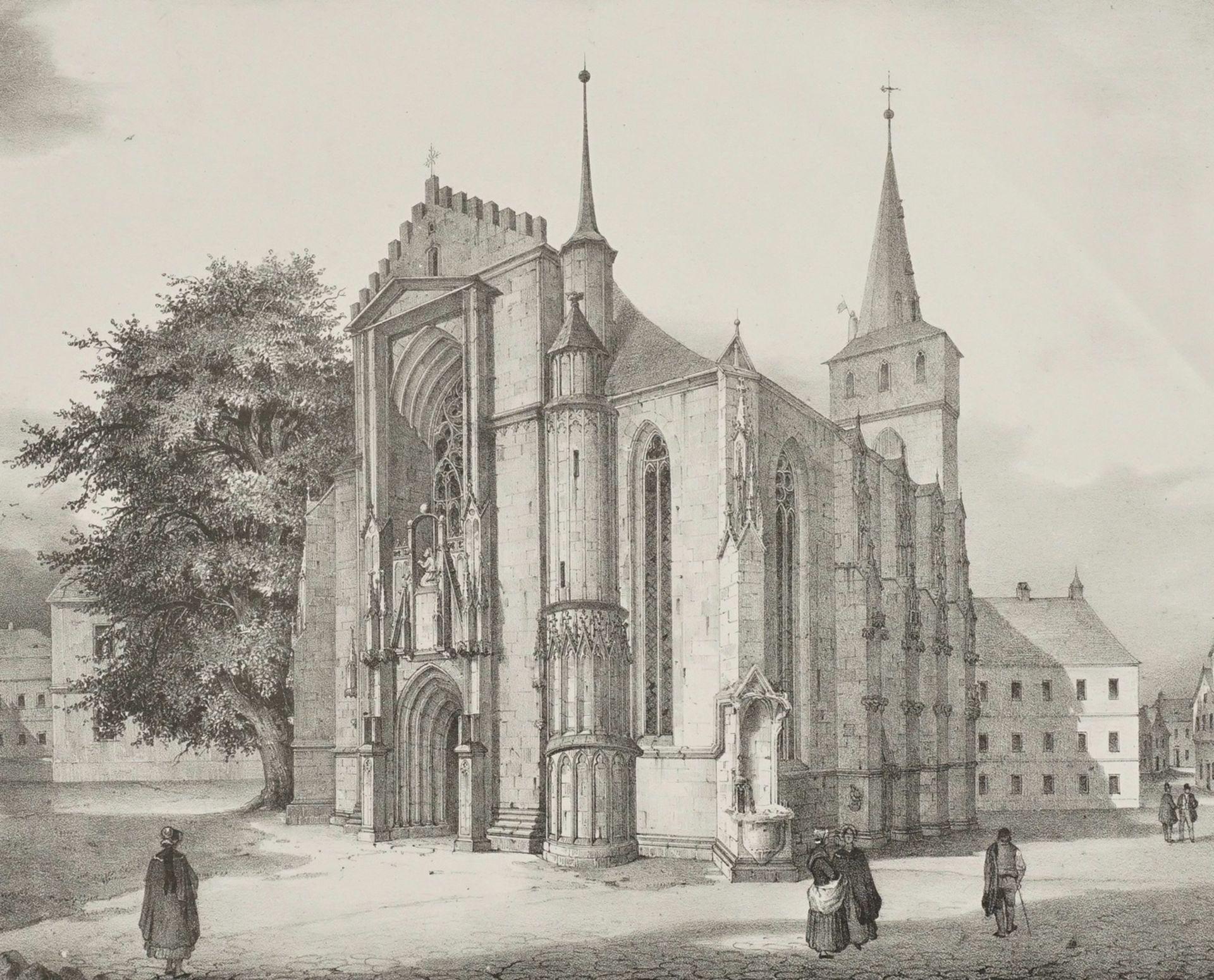 Südwestliche Ansicht der Stadtkirche zu Saalfeld