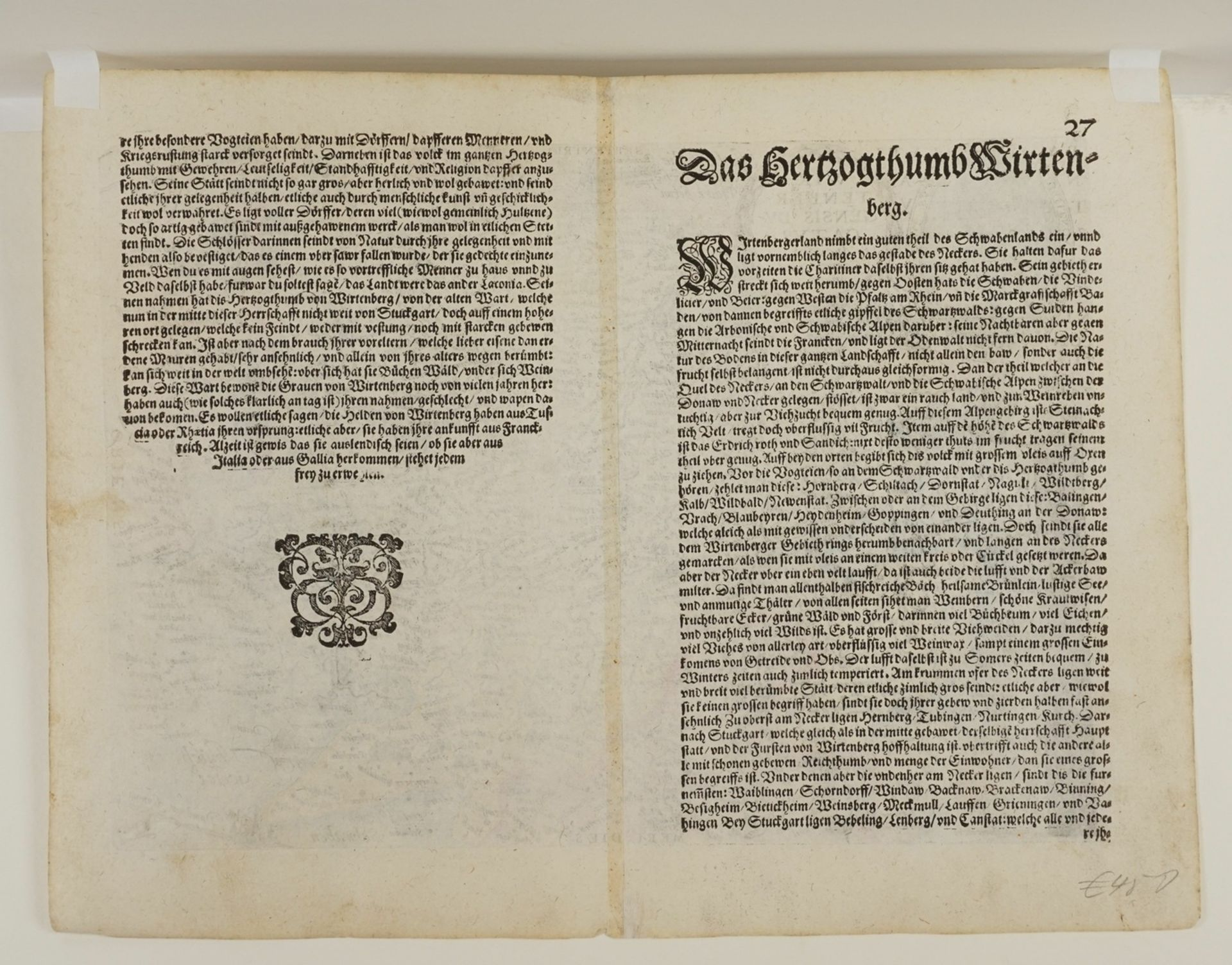 "Mat(t)hias Quad, ""Wirtenbergensis Ducatus"" (Landkarte des Herzogtums Württemberg) - Bild 4 aus 4"