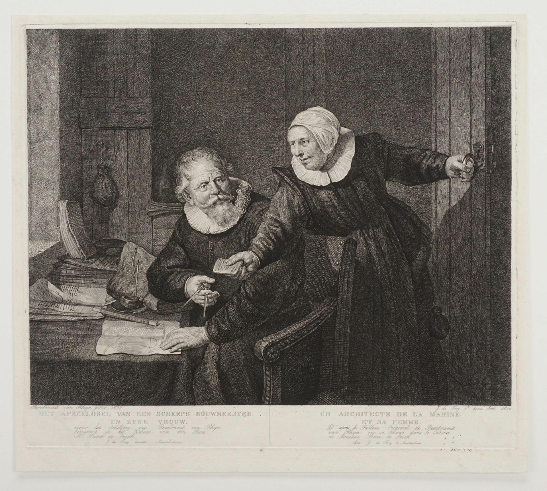 """Rembrandt Harmenszoon van Rijn, """"De Scheeps Bouwmeester"""" (Die Schiffsbauer) - Bild 3 aus 4"""