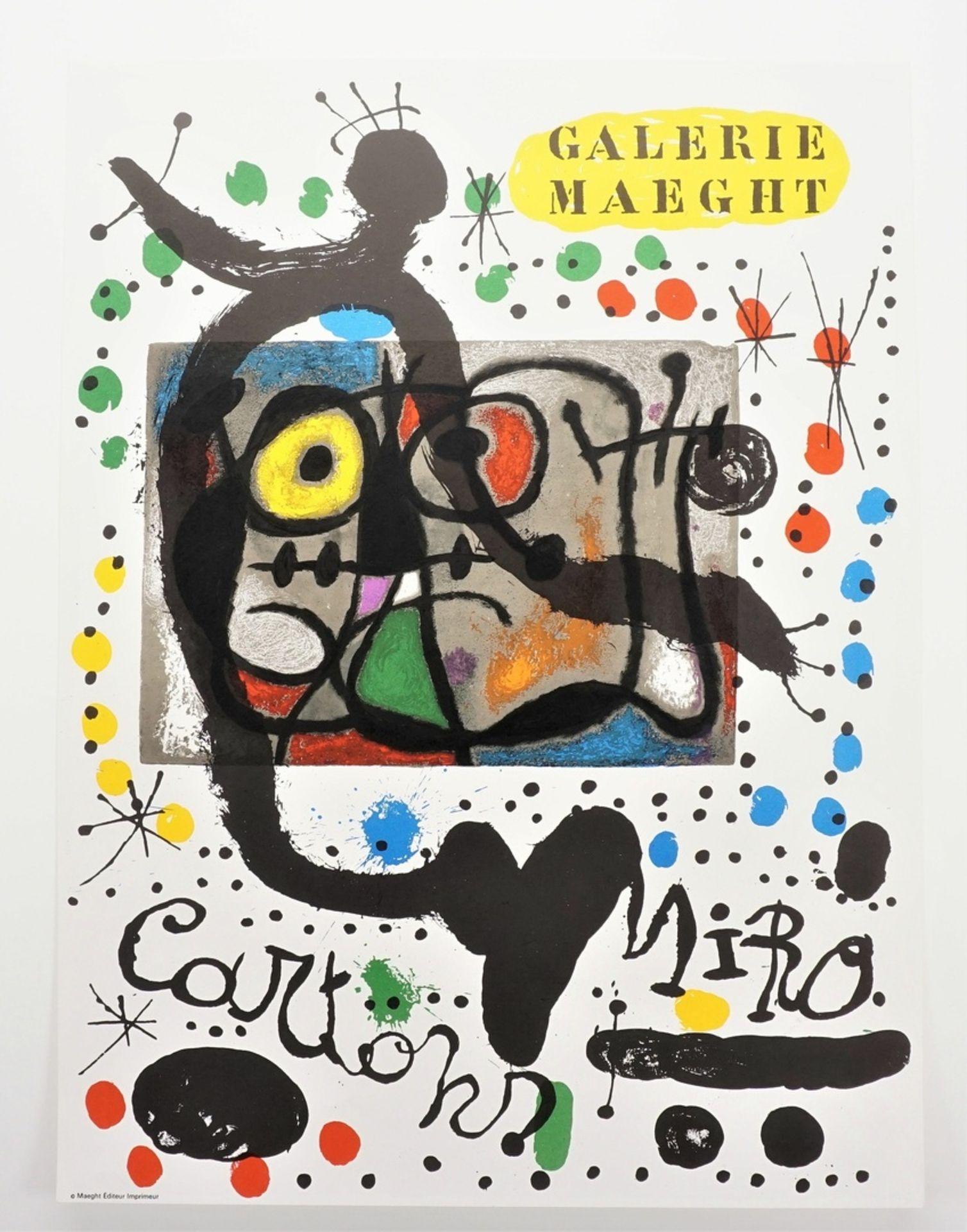 "Joan Miró, ""Cartons. Galerie Maeght"" (Plakat) - Bild 3 aus 3"