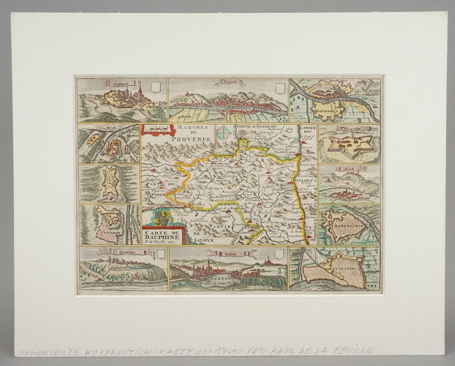 """Daniel de la Feuille, """"Carte du Dauphiné"""" (Landkarte Dauphiné, Südostfrankreich) - Bild 2 aus 3"""