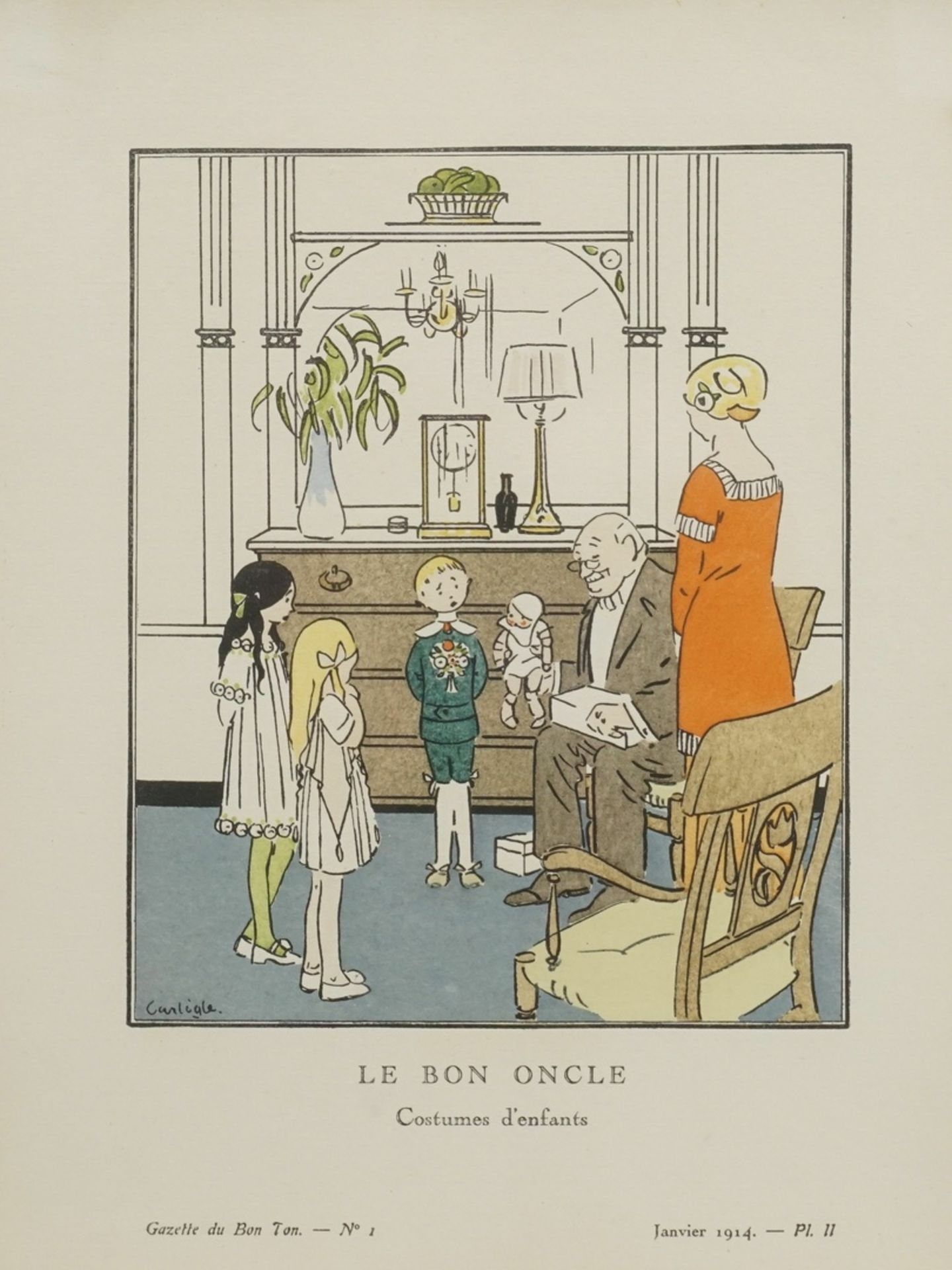 "Charles Emil Egli, genannt Carlègle, ""Le bon oncle"" (Der gute Onkel)"""