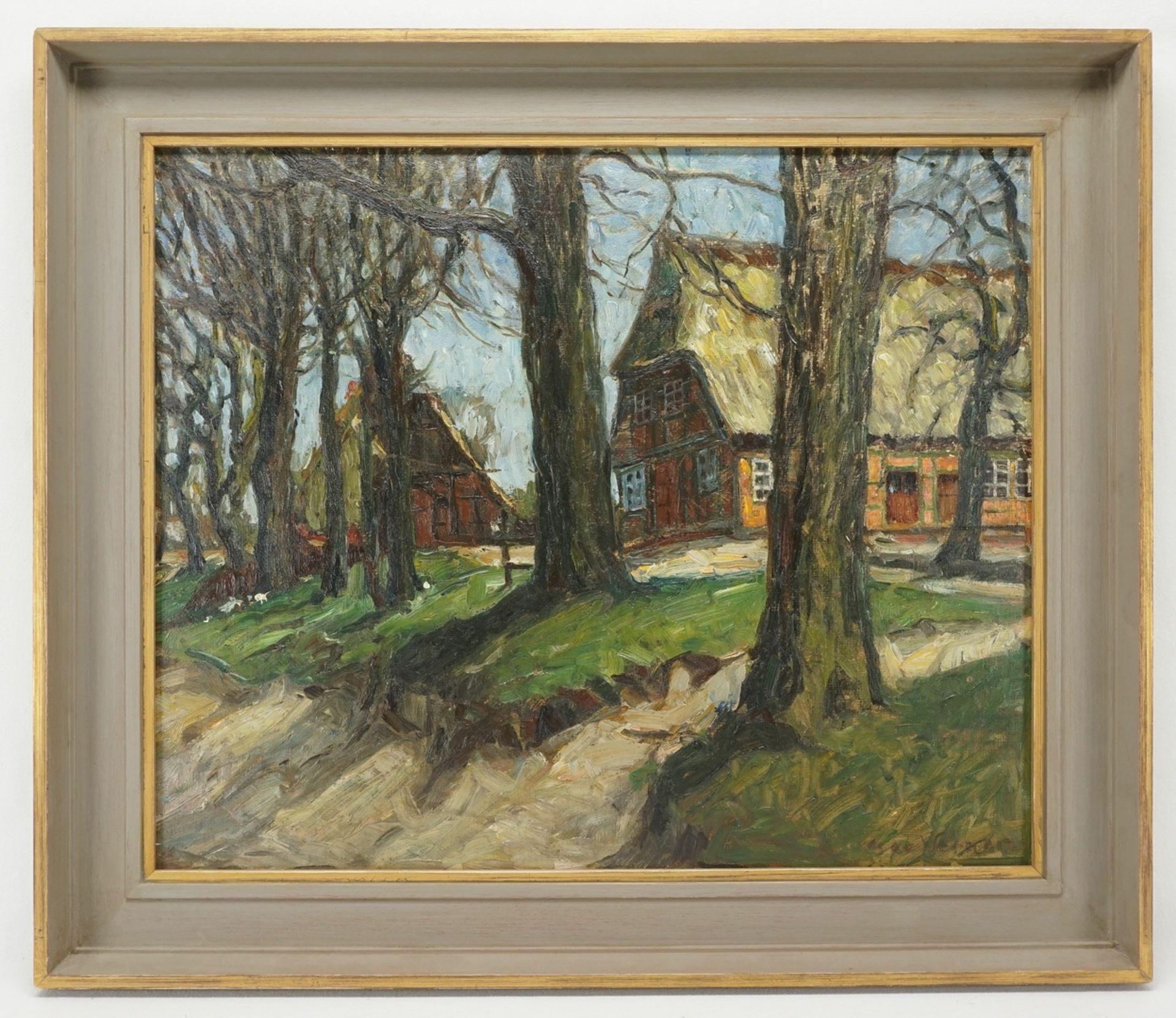 """Max Werner, """"Holsteinisches Bauernhaus (Einfelder See)"""" - Bild 2 aus 4"""