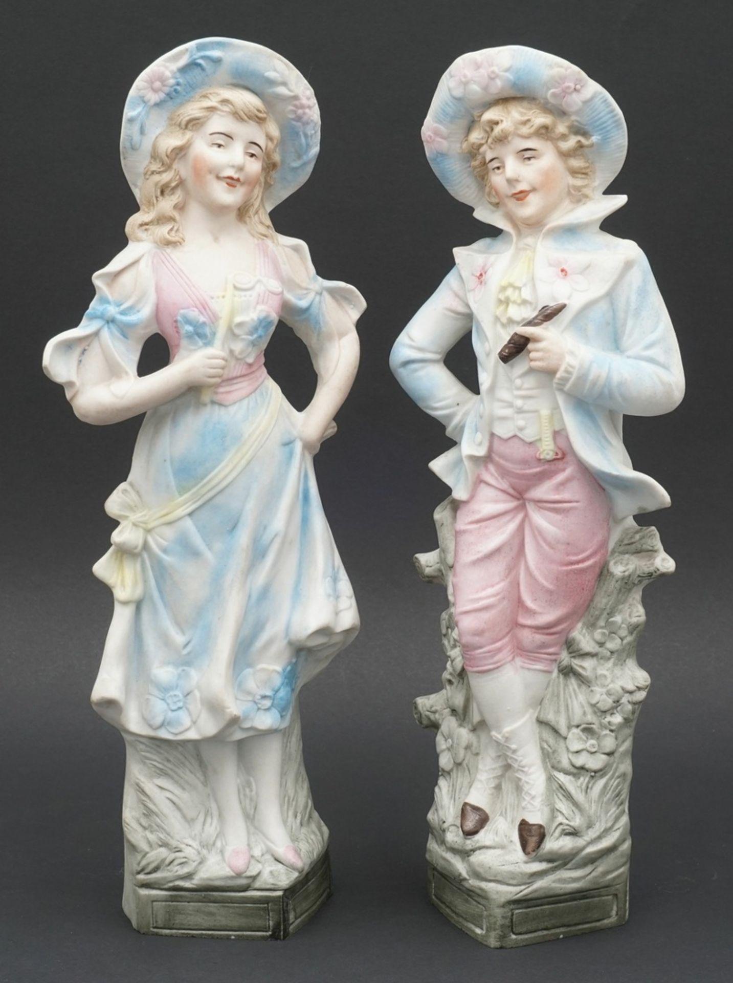 Fünf Vertiko-Figuren, um 1900 - Bild 4 aus 6