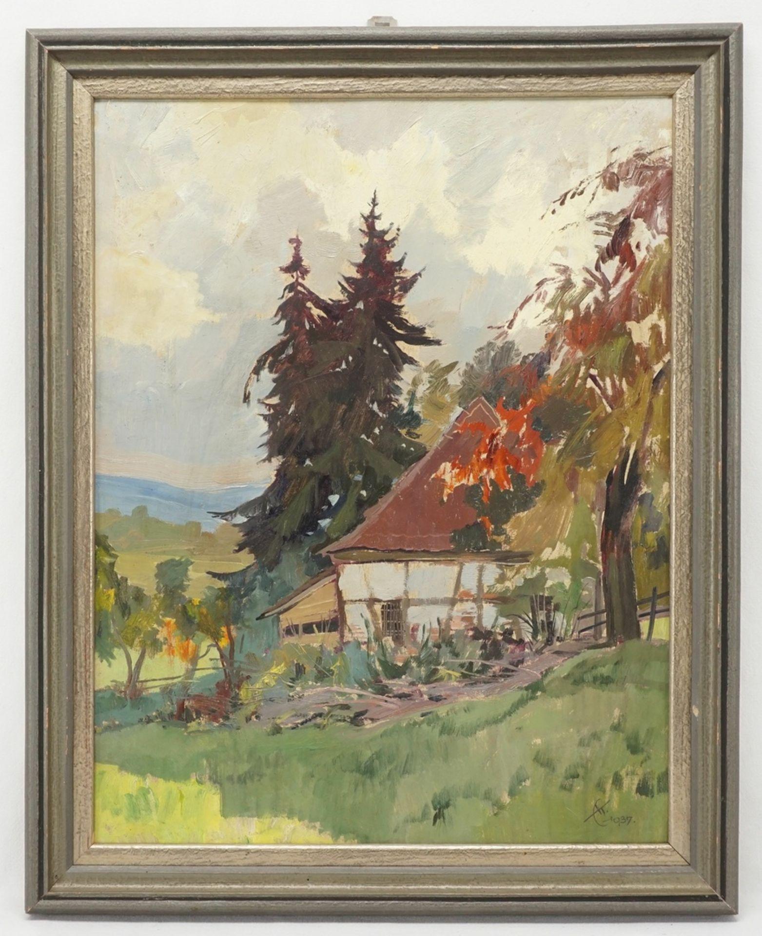 """Erich Kux, """"Altes Forsthaus im Harz"""" - Bild 2 aus 4"""