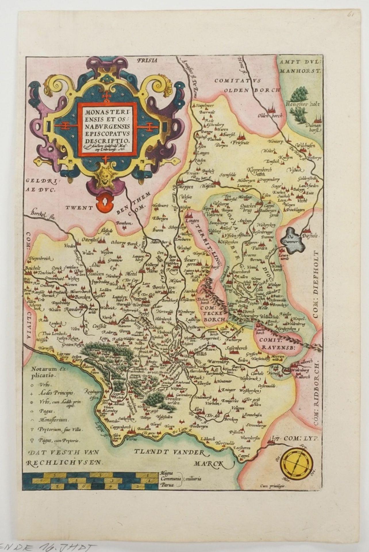 "Gottfried (Godfried) Mascop, ""Monasteriensis et Osnaburgensis Episcopatus Descriptio."" ... - Bild 3 aus 3"