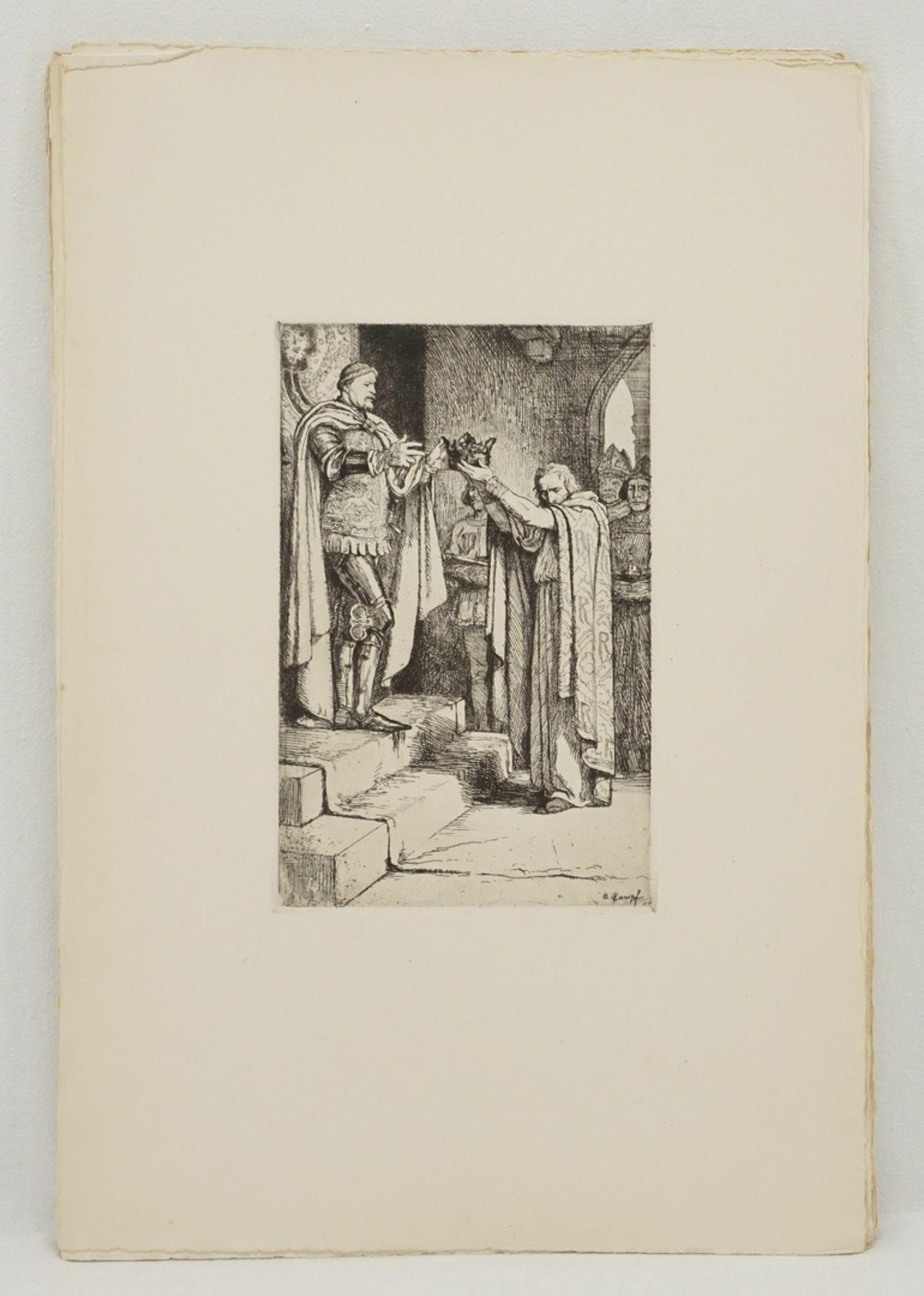 """Arthur Kampf, """"Zwanzig Radierungen zu Shakespeares Werken"""" (Mappe) - Bild 6 aus 8"""