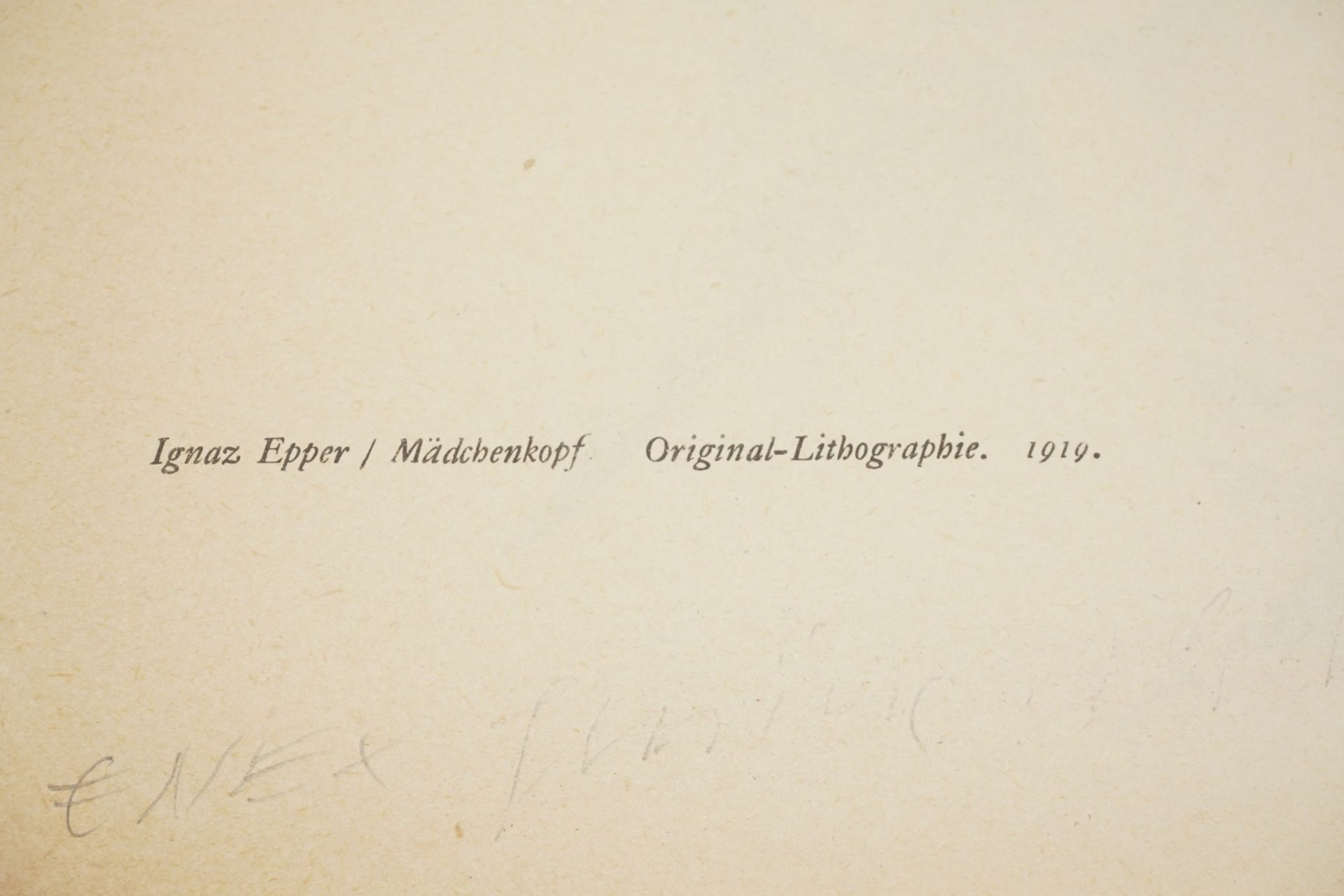 """Ignaz Epper, """"Mädchenkopf"""" - Bild 4 aus 4"""