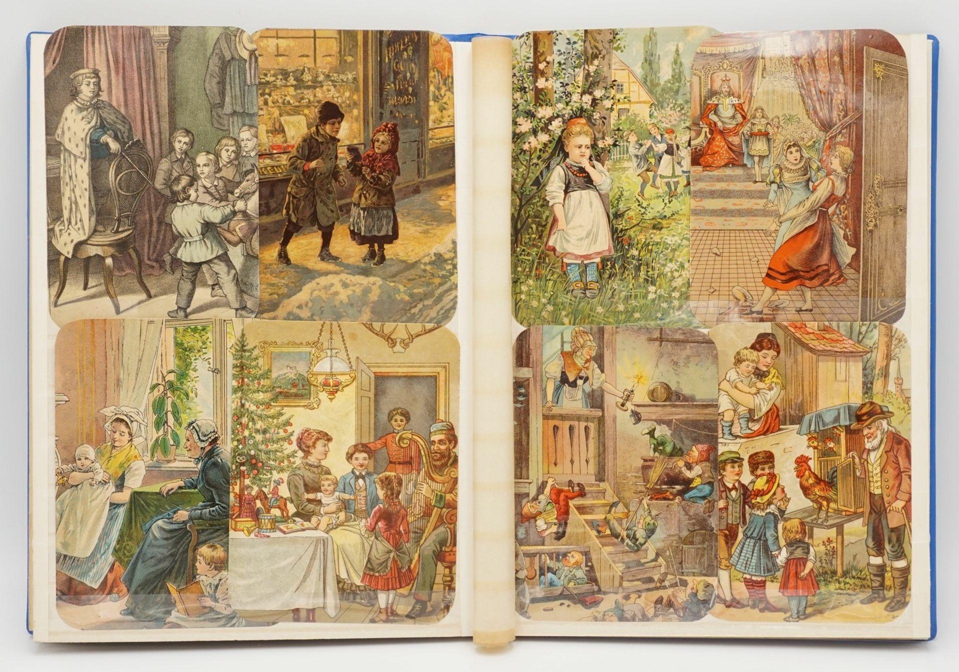 56 farbige Glanzbilder, 1885 - Bild 3 aus 3