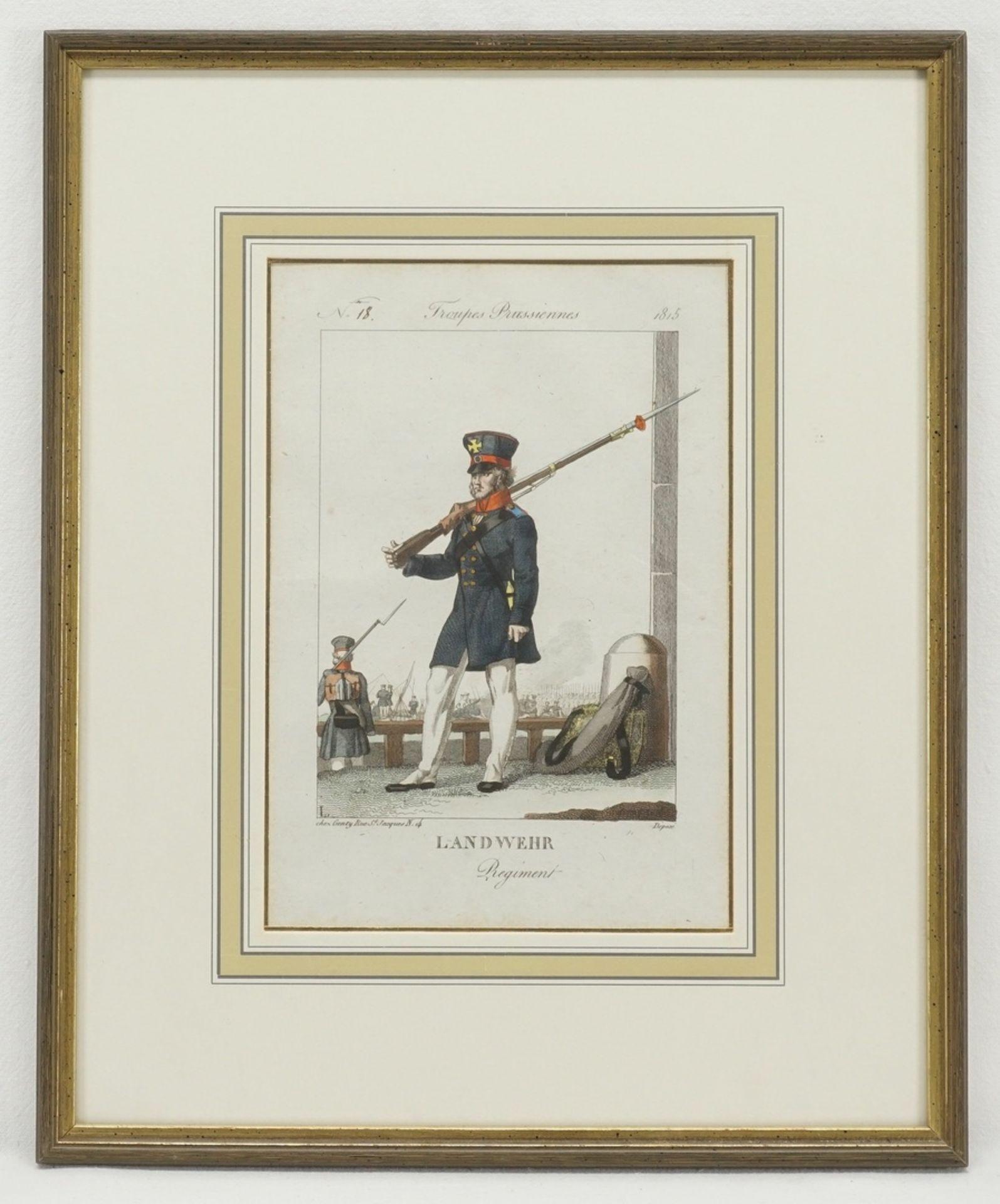 Troupes Prusiennes (Vier Stiche preußischer Soldaten) - Bild 4 aus 5