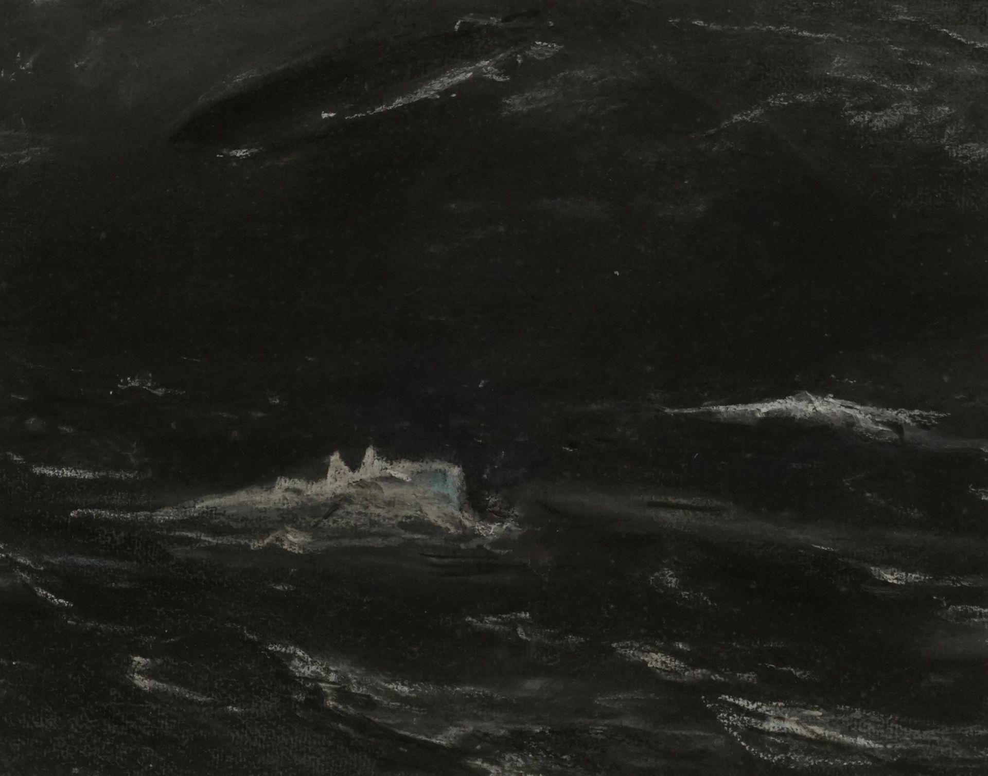 Wohl Ernst-Ludwig von Aster, Abtauchendes U-Boot mit Zeppelin