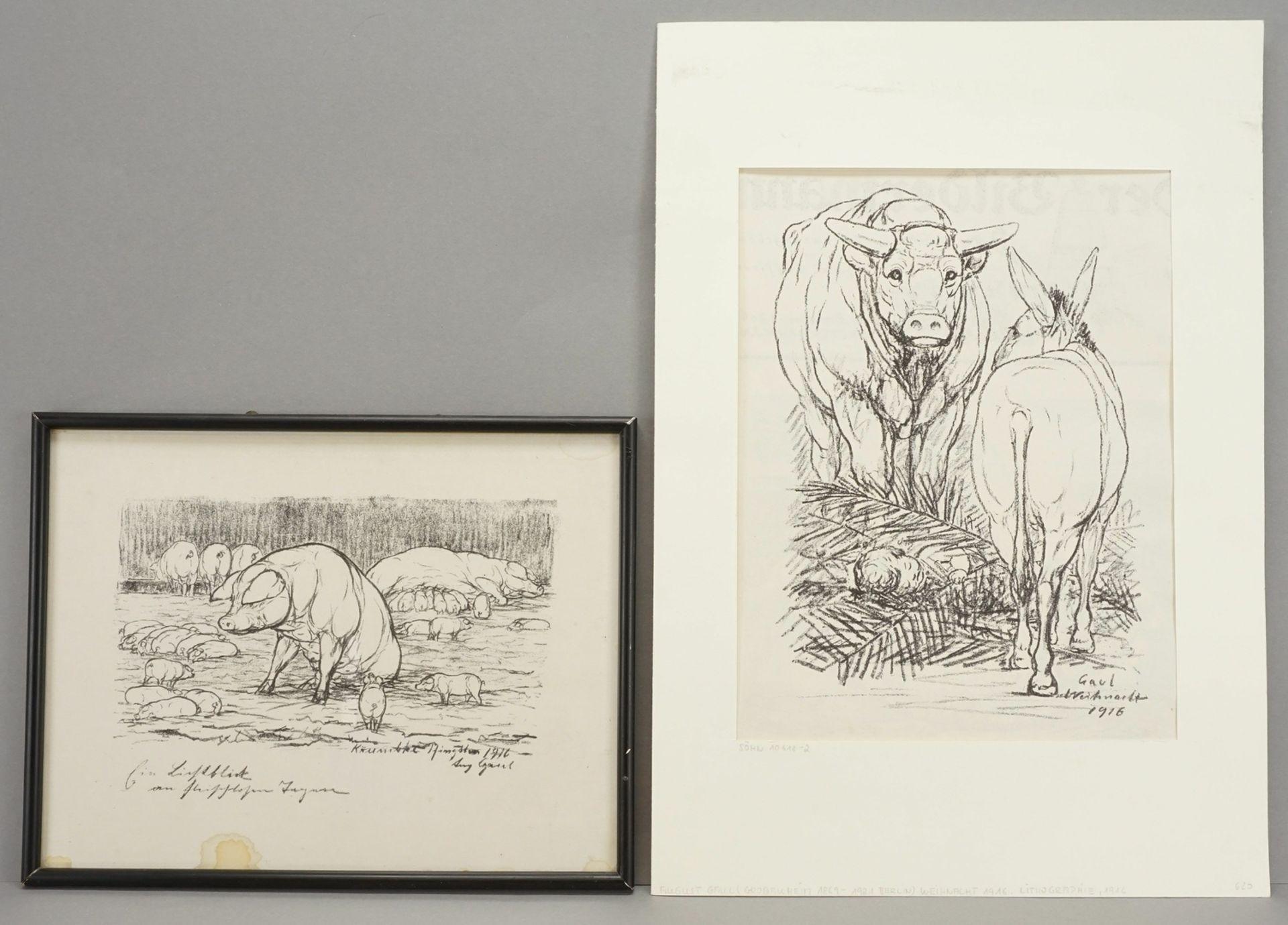 Zwei Lithografien
