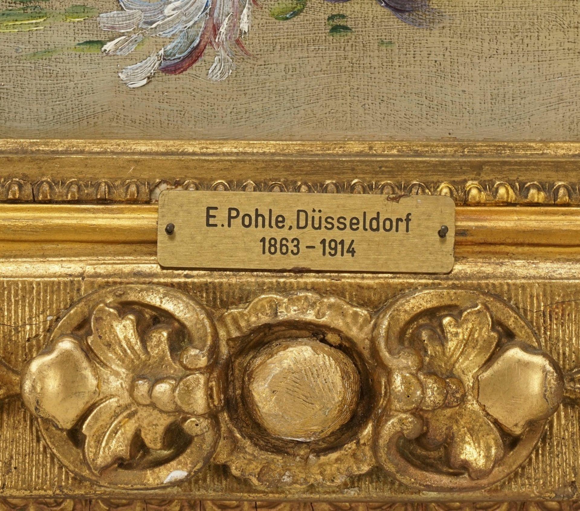E. Pohl, Reiches Blumenstillleben mit Feldblumen und Klatschmohn - Bild 5 aus 5