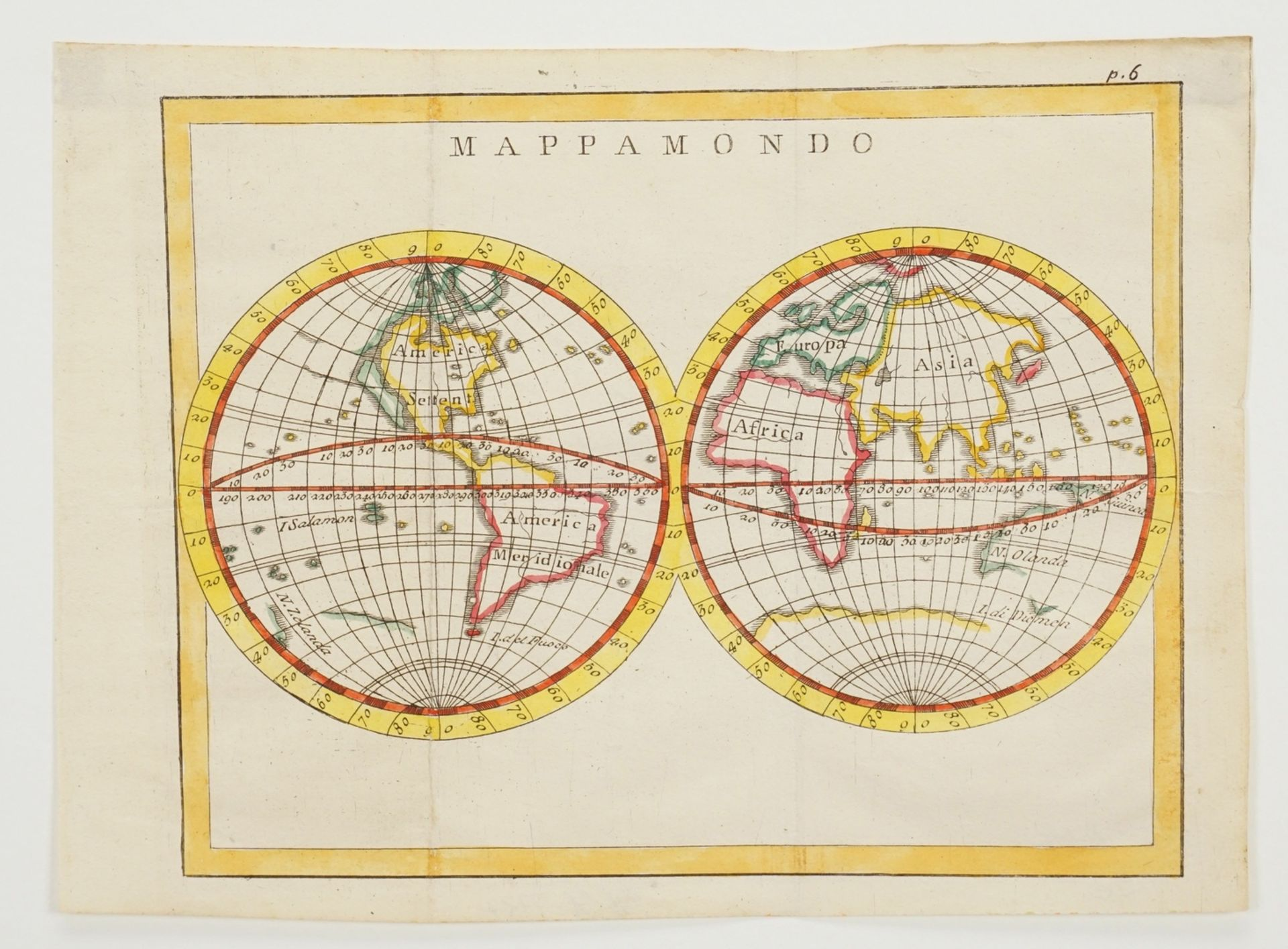 Zwei Weltkarten mit Doppel-Hemisphären - Bild 3 aus 3
