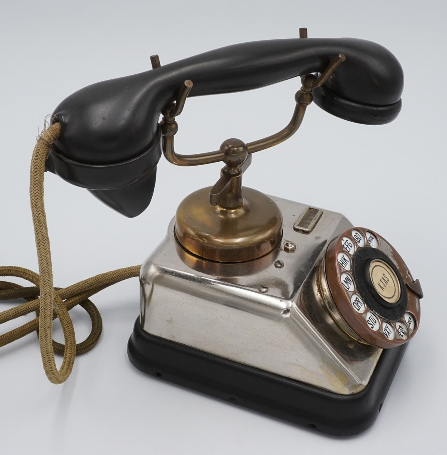 KTAS dänisches Telefon mit Wählscheibe, um 1930 - Bild 2 aus 4