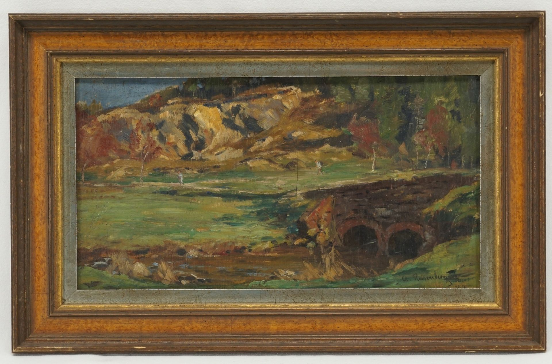 Alfred Rasenberger, Landschaftsstudie mit Steinbrücke - Bild 2 aus 4