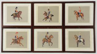Sechs militär-historische Reiterdarstellungen