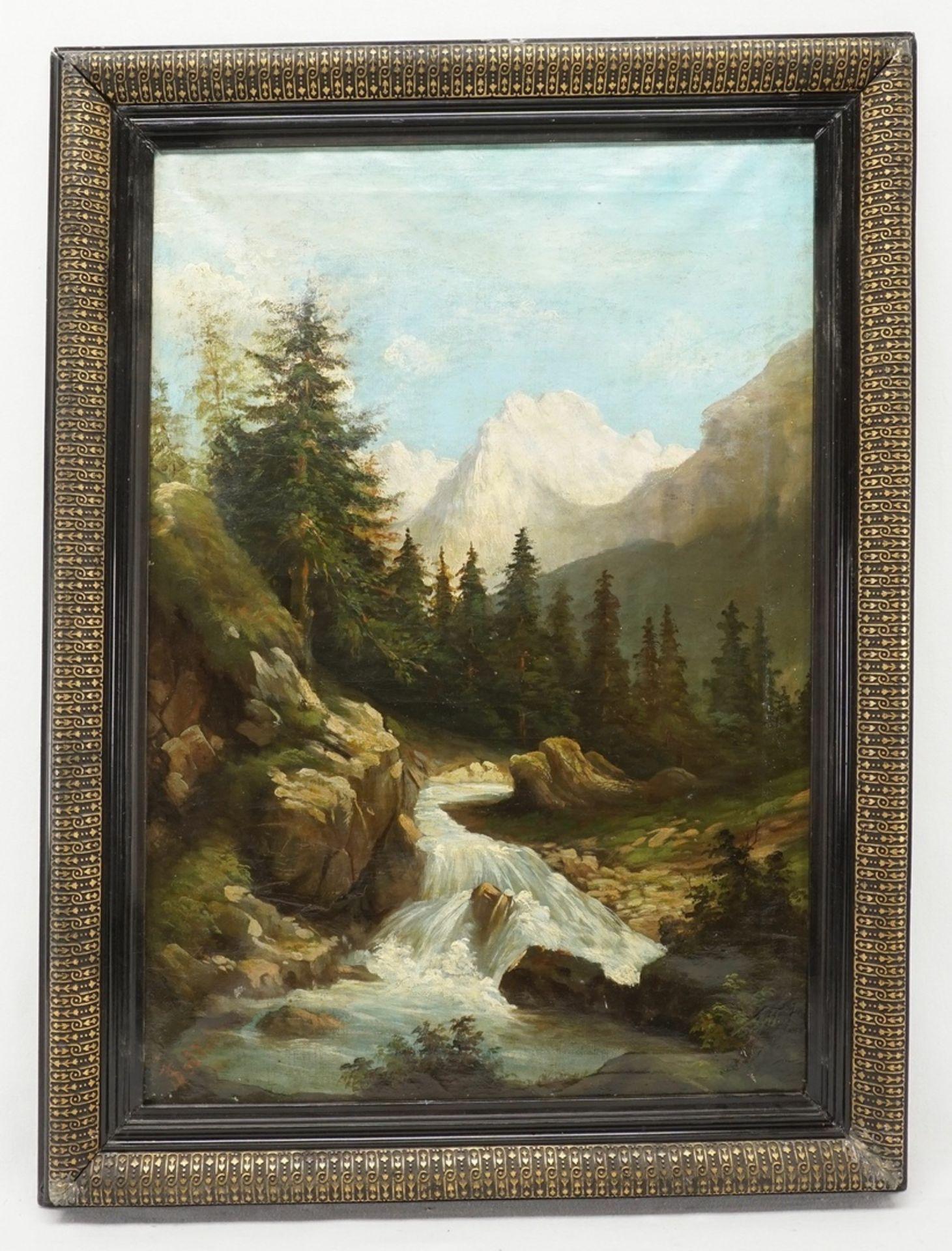 J. Seidlein, Alpenbach in den Dolomiten - Bild 2 aus 4