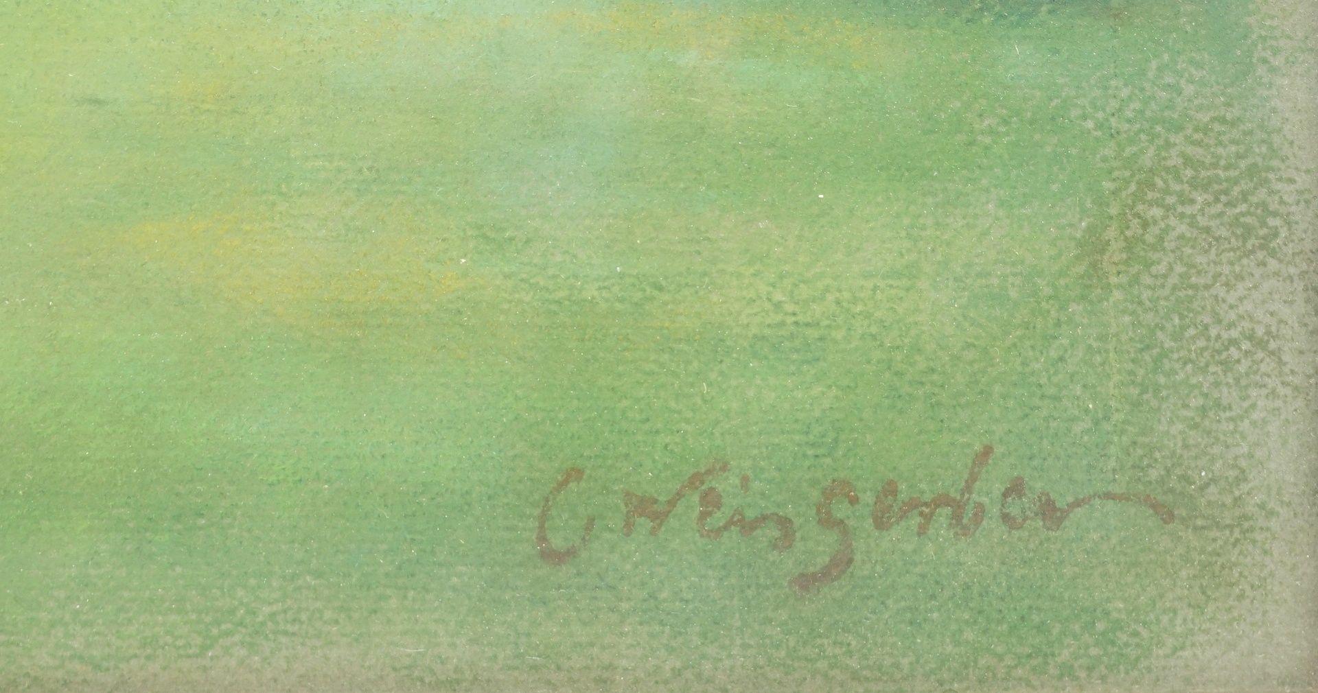 """Carl Weisgerber, """"Gutshof mit grasenden Fjordpferden"""" - Bild 4 aus 4"""