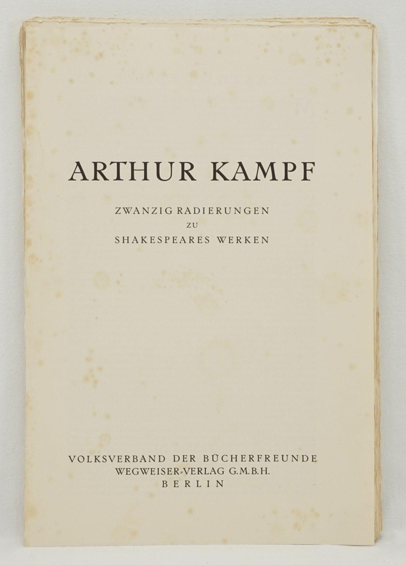 """Arthur Kampf, """"Zwanzig Radierungen zu Shakespeares Werken"""" (Mappe) - Bild 4 aus 8"""