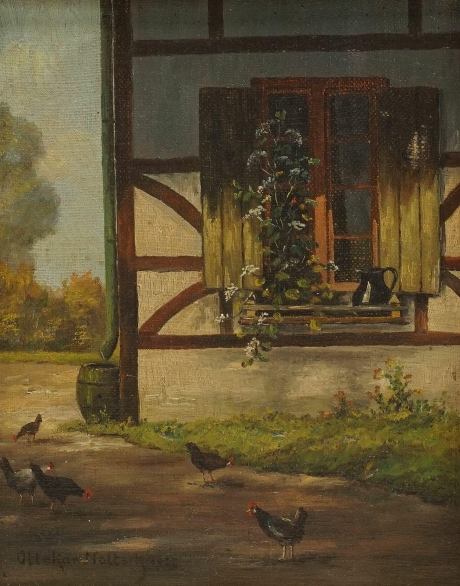 "Ottokar Noltsch, ""Hühnerhof"" - Bild 2 aus 3"