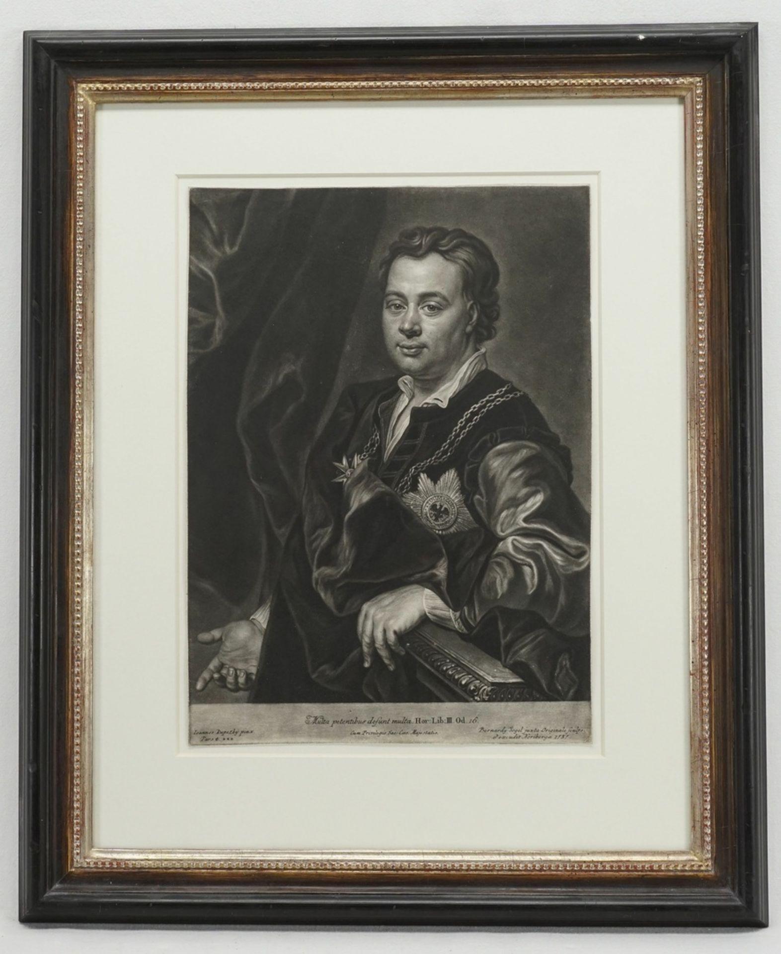 """Bernhard Vogel, """"Multa oetentibus desunt multa"""" (Bildnis Gustav Adolf von Gotter) - Bild 2 aus 2"""