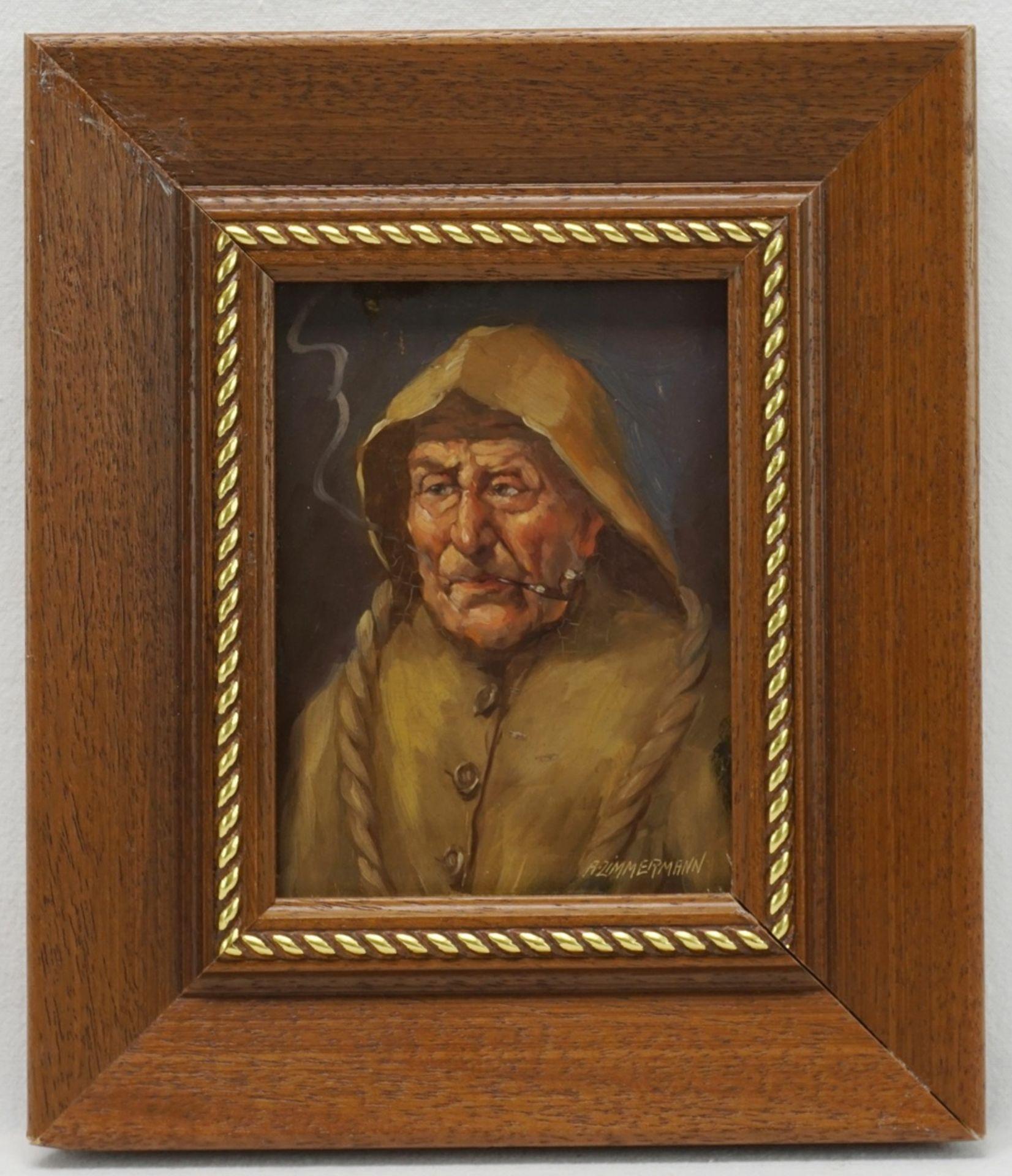 A. Zimmermann, Pfeife rauchender Fischer - Bild 2 aus 4