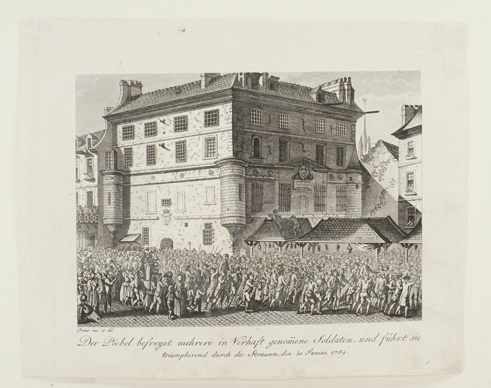"Jean-Louis Prieur, ""Der Poebel befreyet mehrere in Verhaft genomene Soldaten, [...]"" - Bild 3 aus 3"