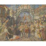 """Rudolf Jordan, (zugeschrieben) """"Festlicher Einzug in die Hansestadt Hamburg"""""""
