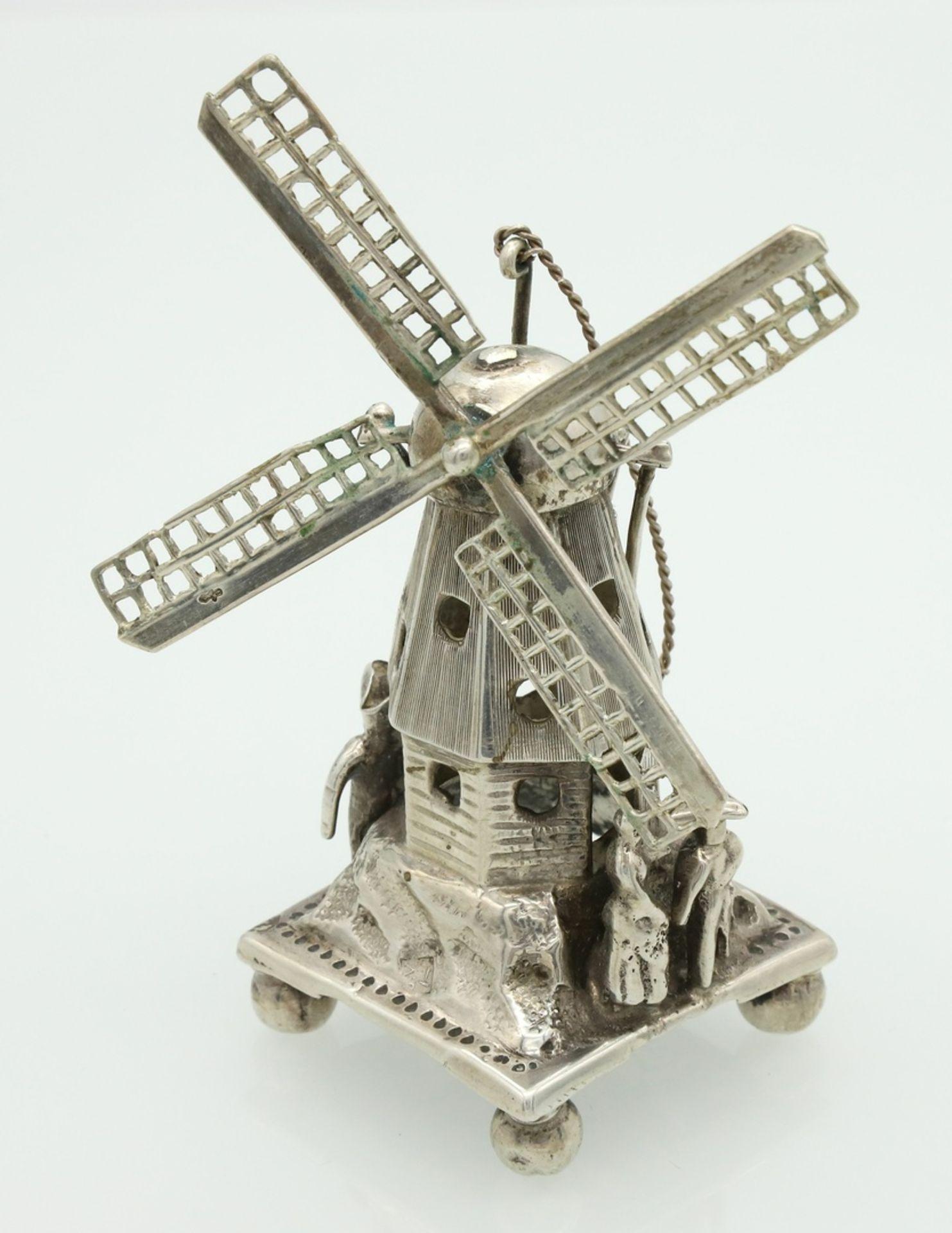 Miniatur einer Windmühle
