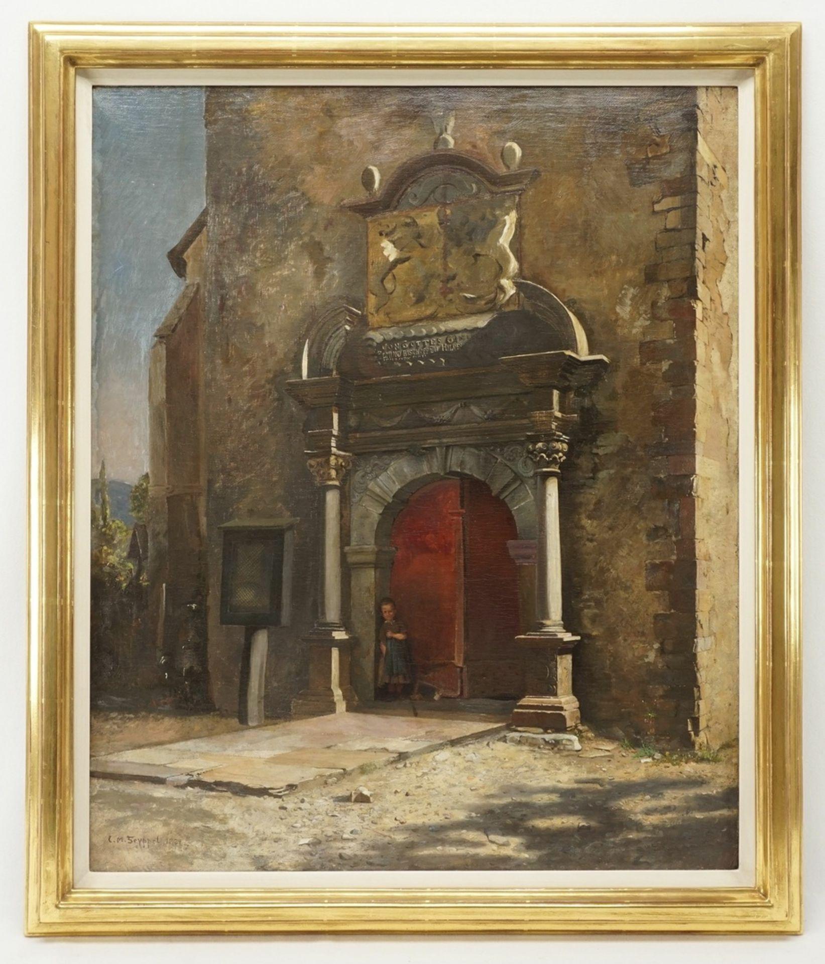 "Carl Maria Seyppel, ""Am Kirchenportal"" - Bild 2 aus 4"