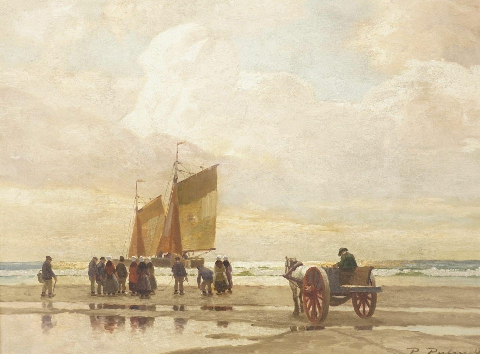 Peter Pulm, Anlandende Fischerboote im Wattenmeer