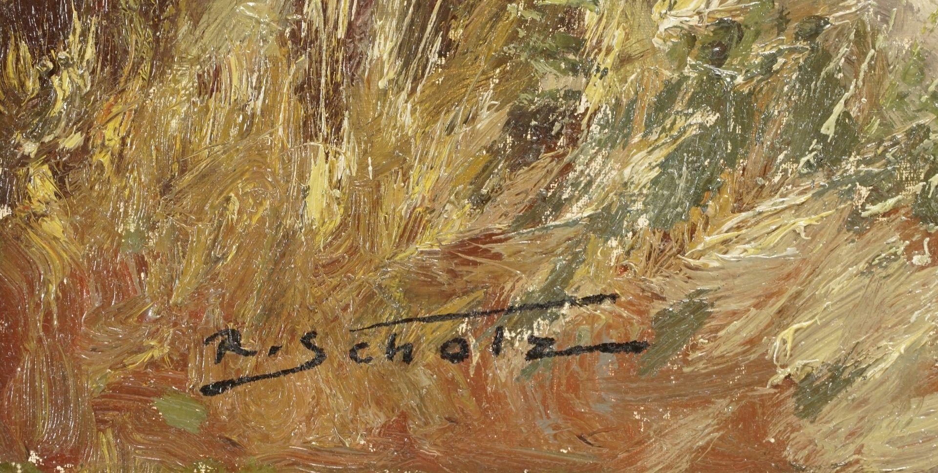R. Scholz, Sichernder Rehbock mit zwei Ricken - Bild 4 aus 4