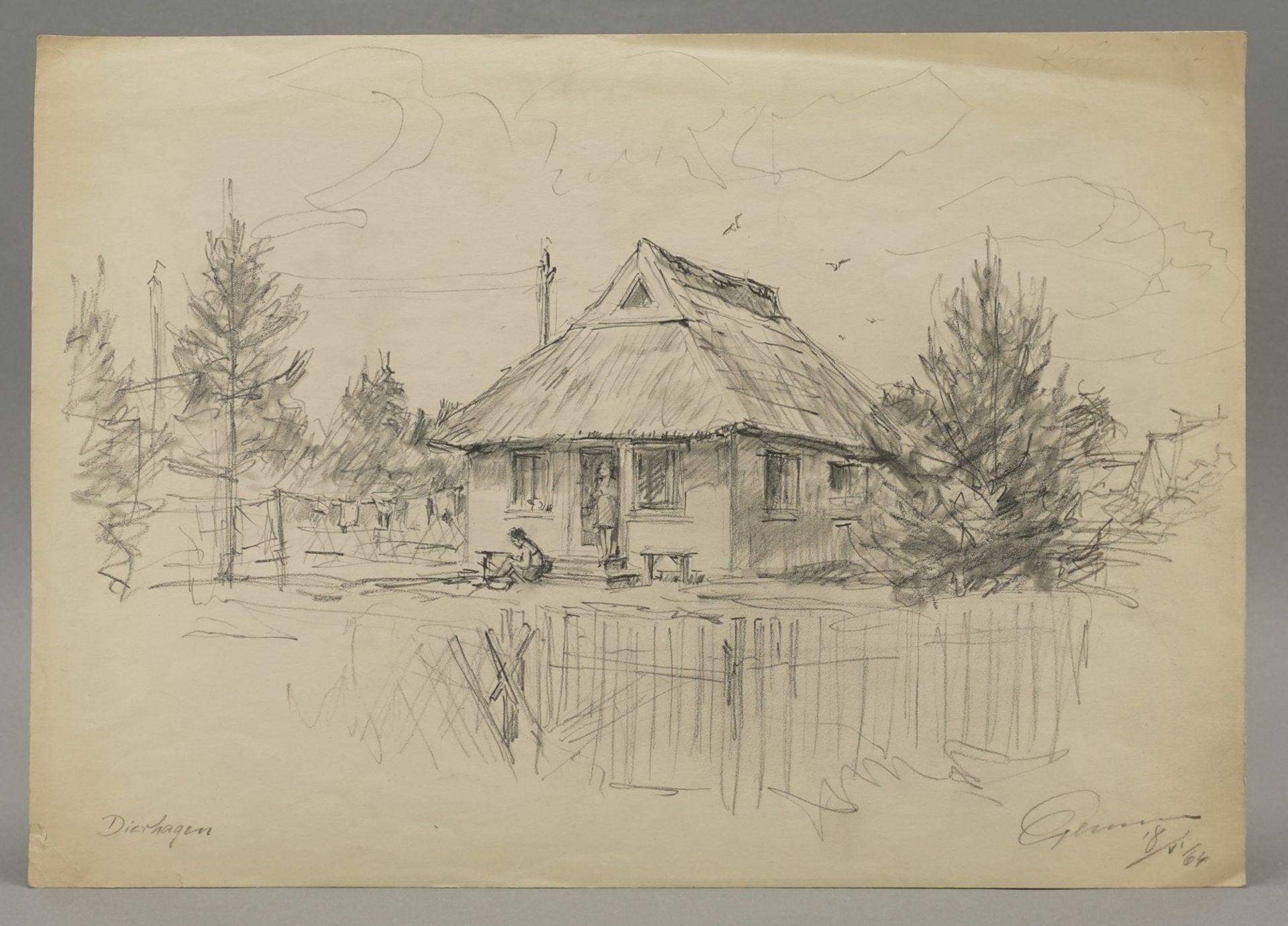 Walter Gemm, zwei Ferienszenen Dierhagen - Bild 4 aus 5