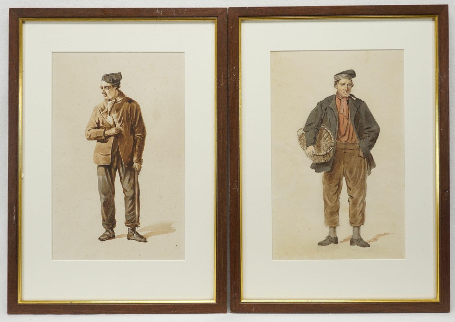 Gerard Bosch, Kostümstudien zweier niederländischer Herren