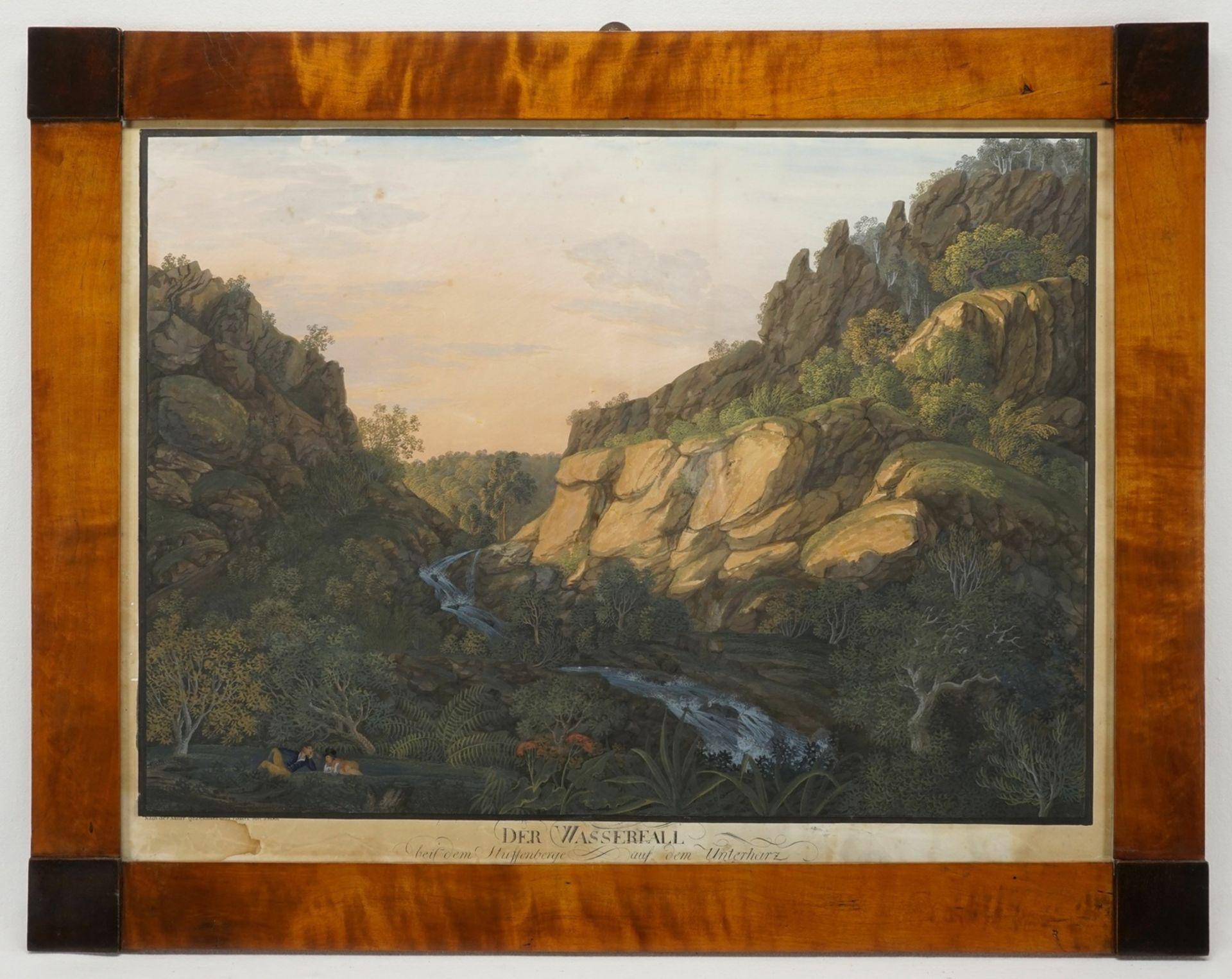 """Anton Radl, """"Der Wasserfall bei dem Stuffenberge auf dem Unterharz"""" - Bild 2 aus 2"""