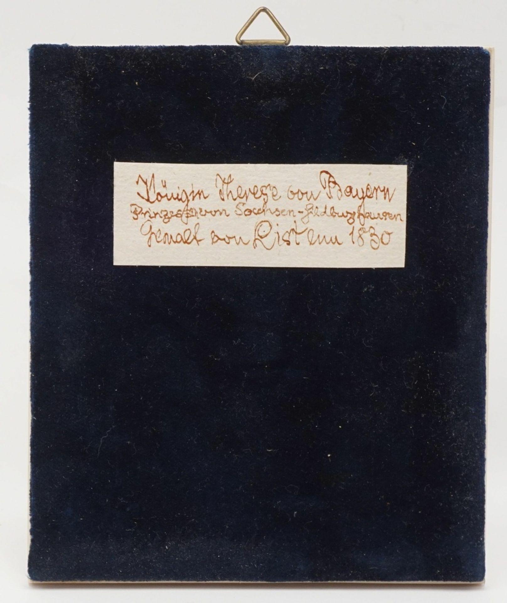 Miniatur der Therese von Bayern - Bild 2 aus 2