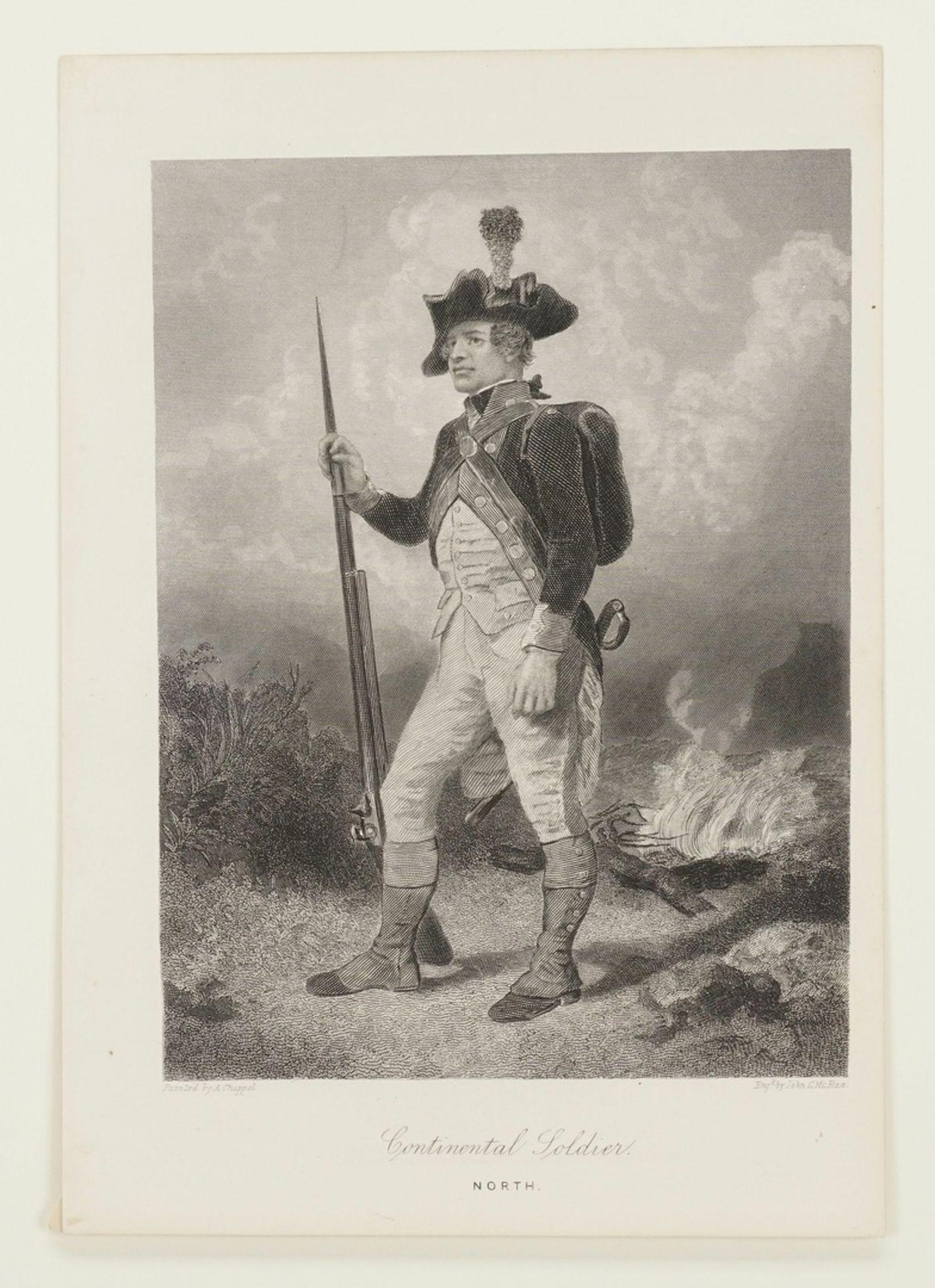 John C. McRae, Drei Darstellungen nordamerikanischer Soldaten - Bild 2 aus 4