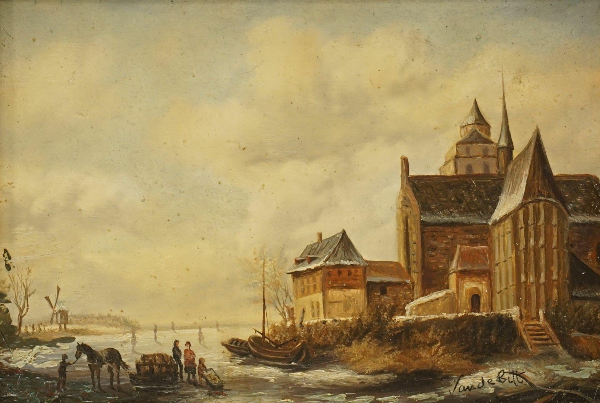 Van de Bilt, Zwei holländische Winterszenen - Bild 3 aus 4