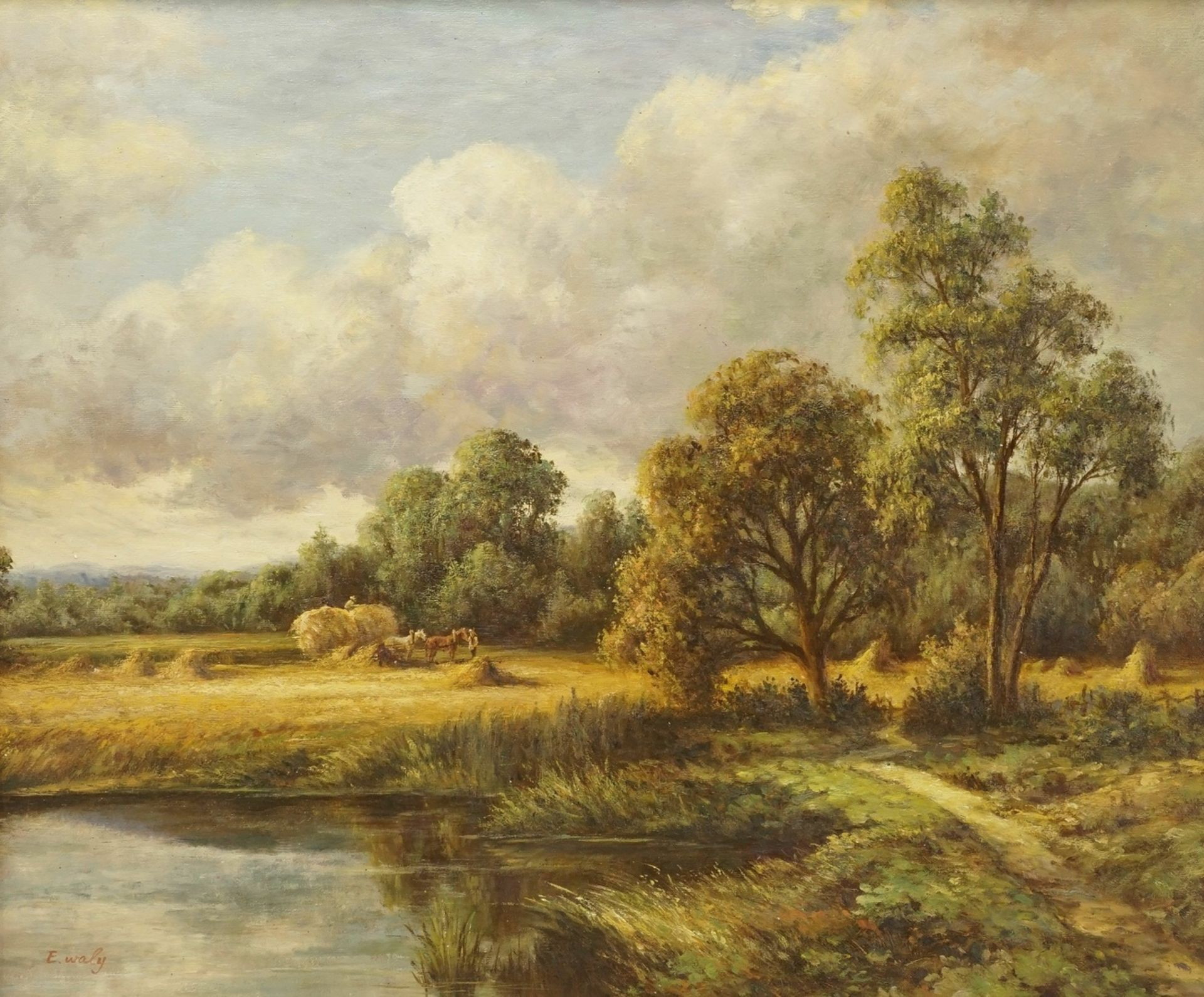E. Waly, Heuernte am See